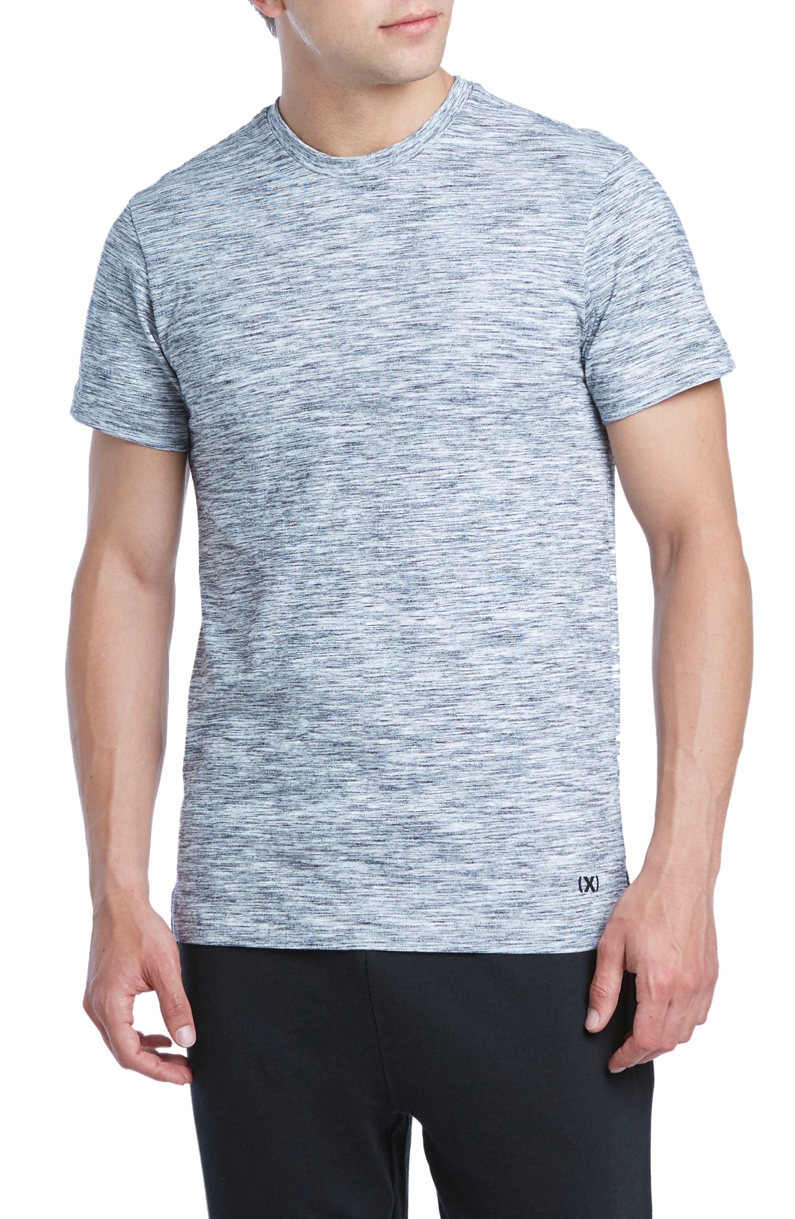 Static Crewneck Cotton T-Shirt,                         Main,                         color, Black/ White