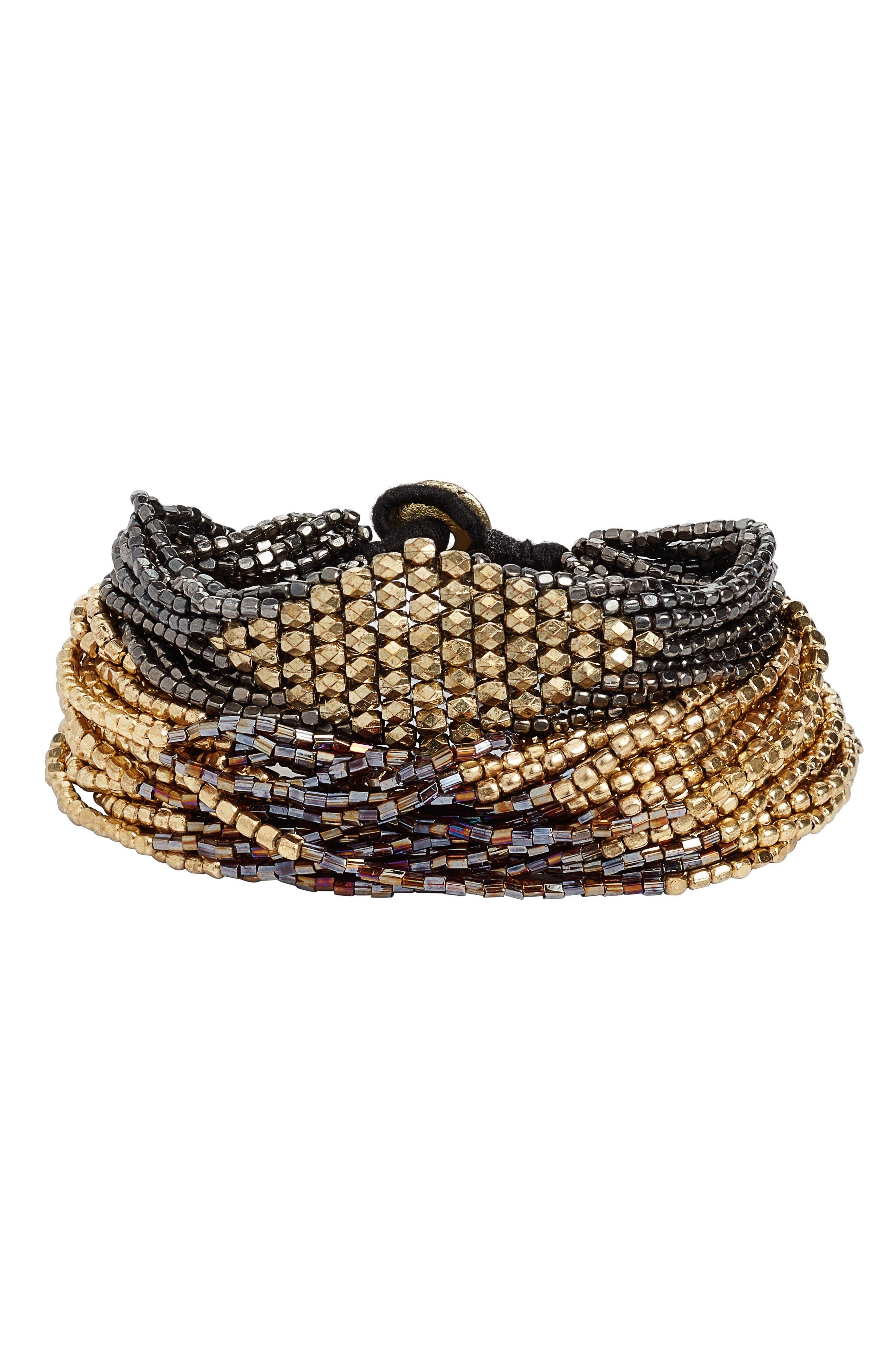 Alternate Image 1 Selected - Ink + Alloy Set of 2 Beaded Bracelets