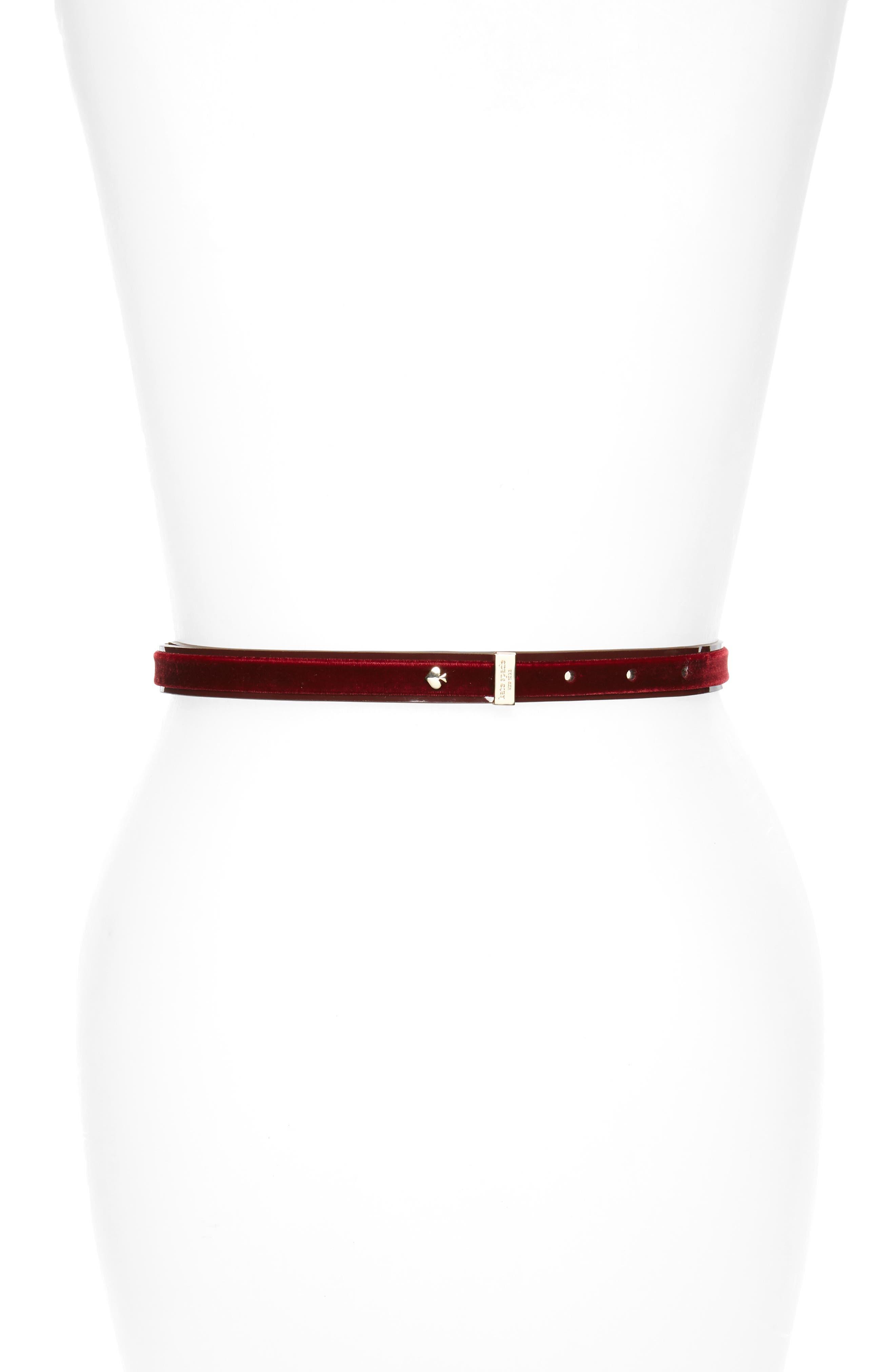 Alternate Image 2  - kate spade new york classic velvet bow belt