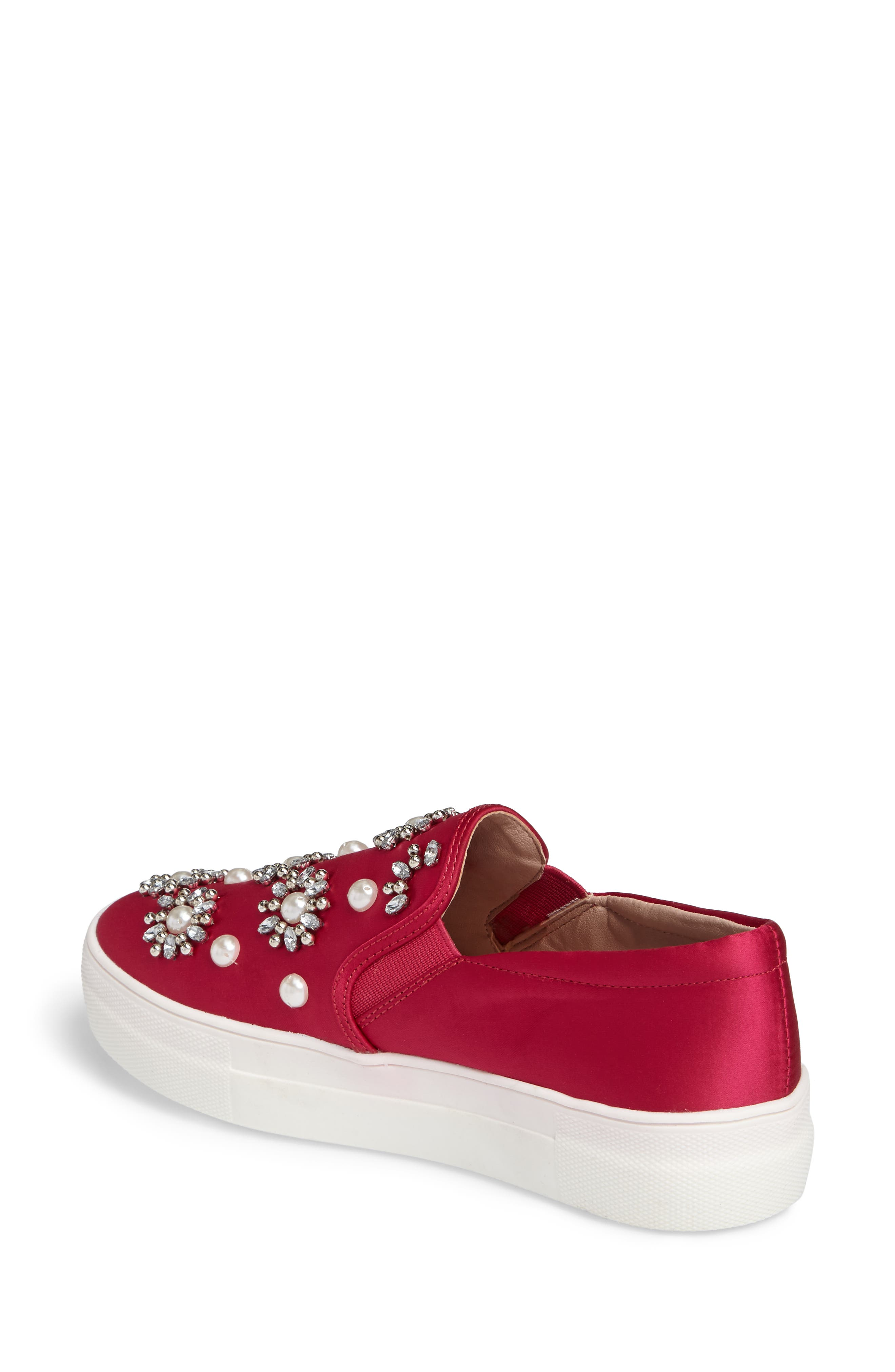 Tilt Embellished Slip-On Sneaker,                             Alternate thumbnail 2, color,                             Pink Multi