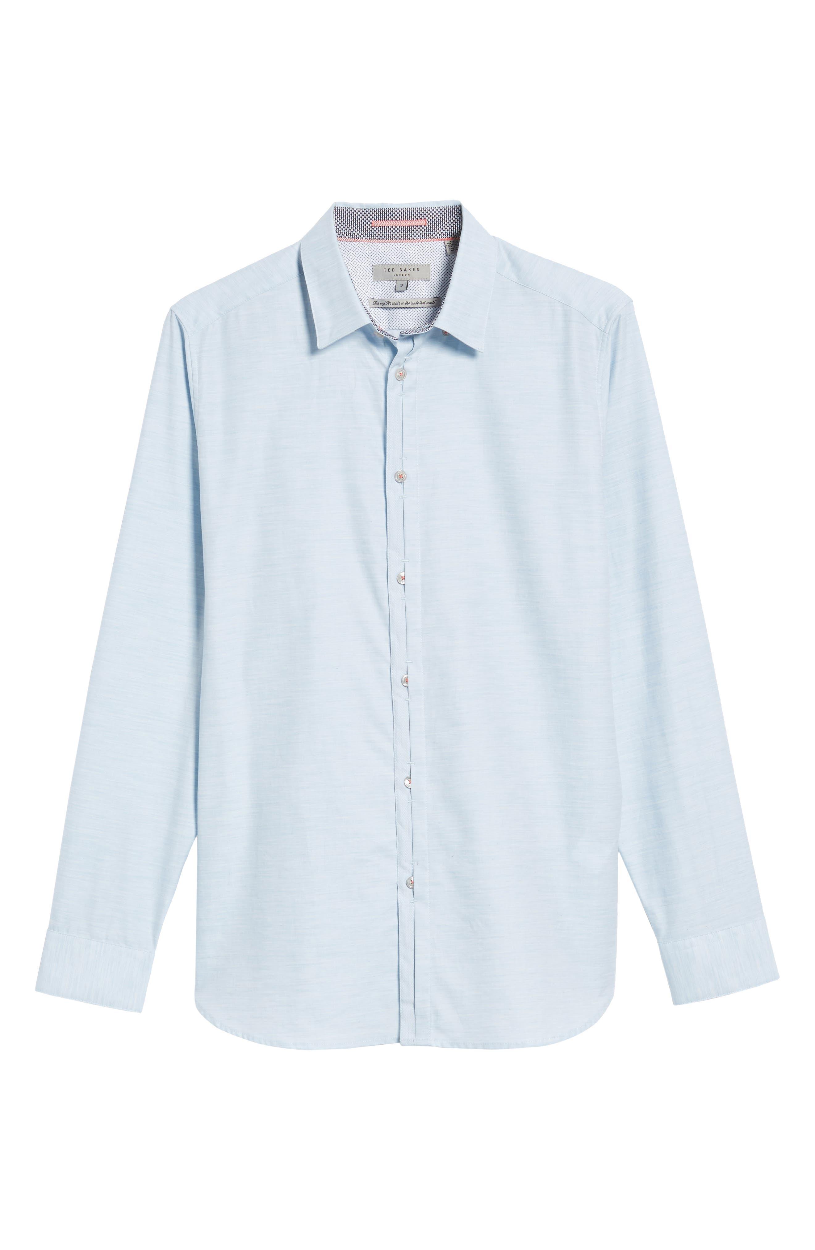 Alternate Image 5  - Ted Baker London Annisley Modern Slim Fit Sport Shirt