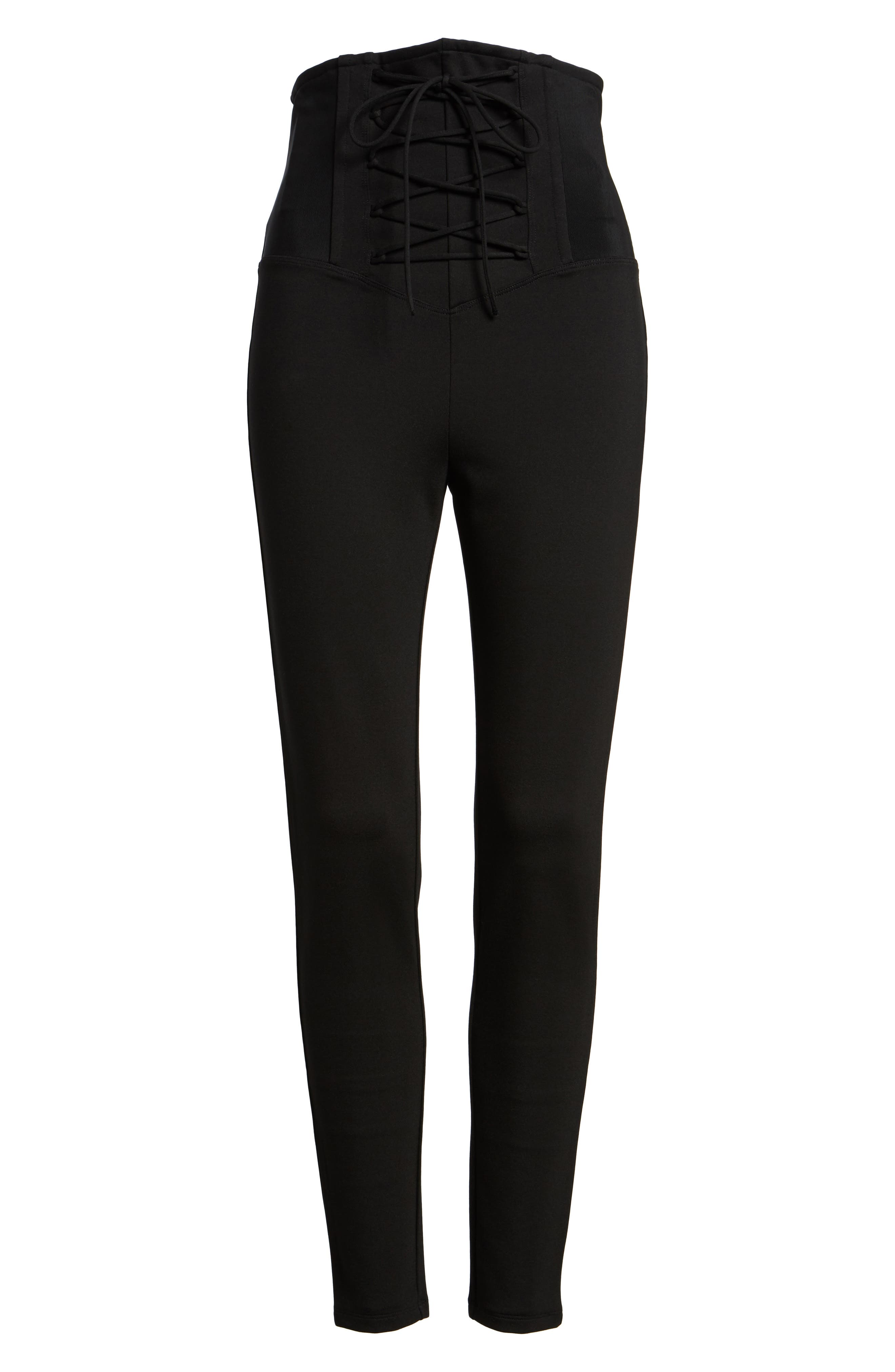 Alternate Image 6  - Leith High Waist Lace-Up Pants