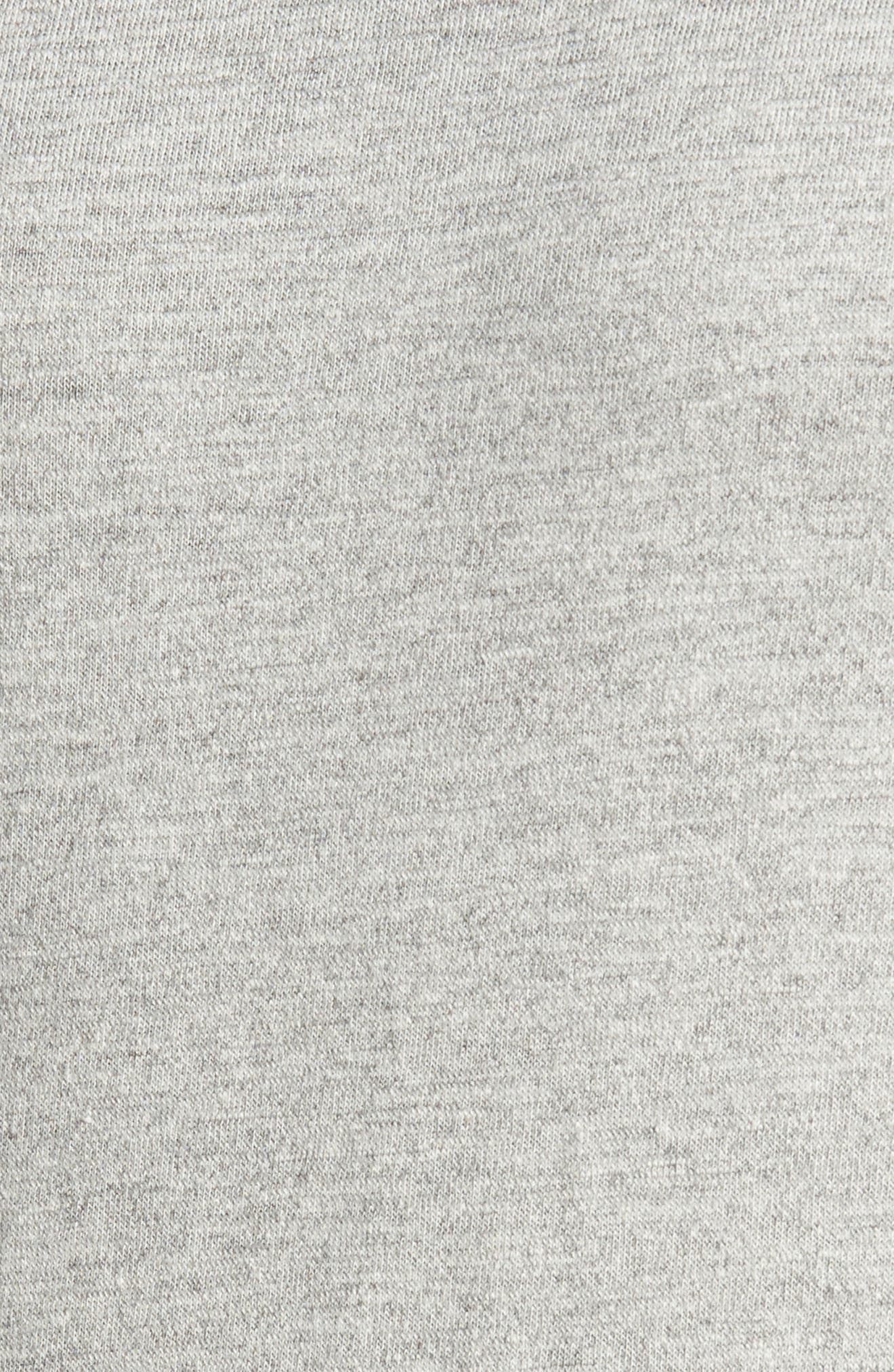 Vienna French Terry T-Shirt,                             Alternate thumbnail 5, color,                             Light Grey
