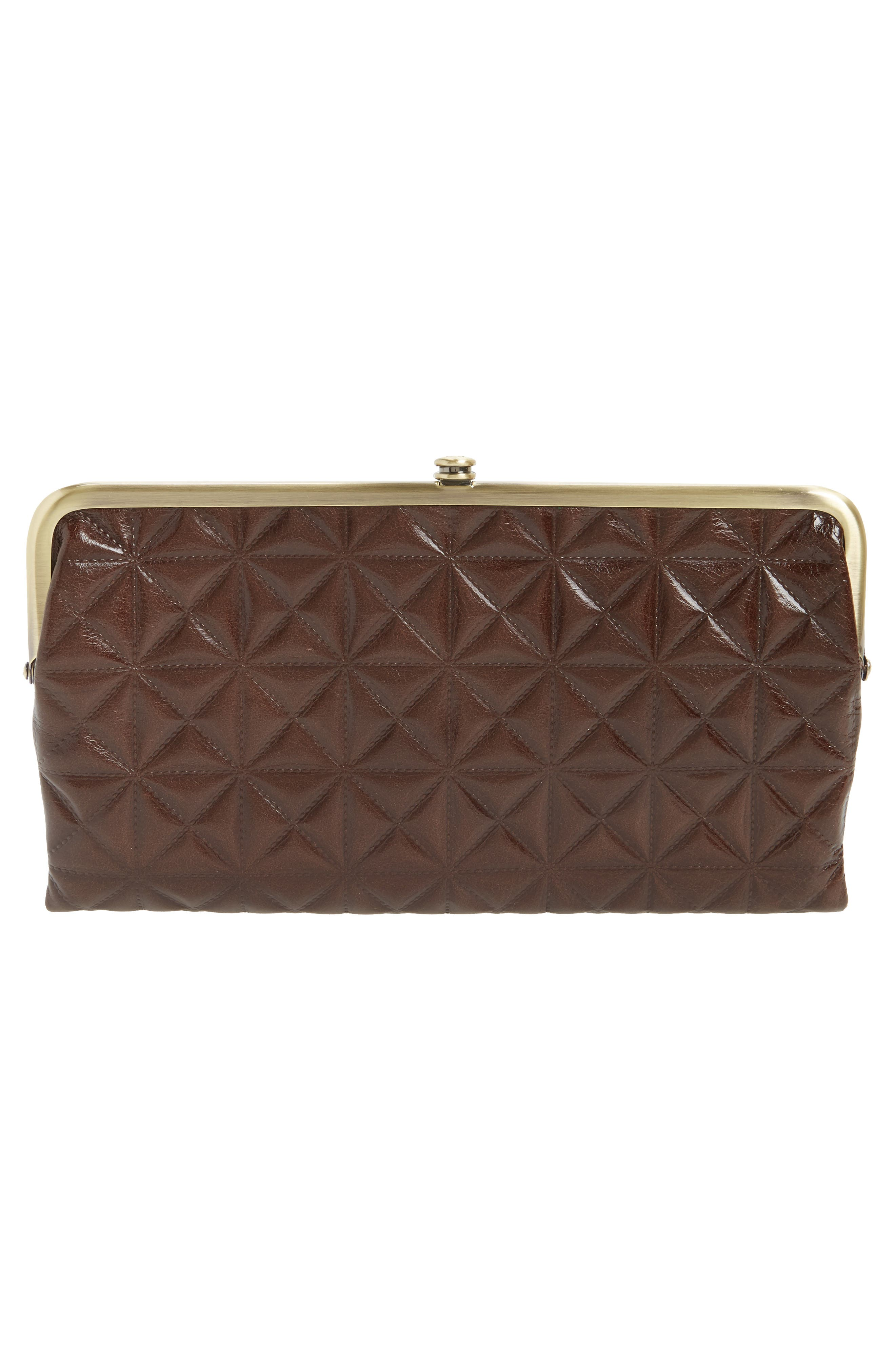 Lauren Quilted Calfskin Leather Wallet,                             Alternate thumbnail 3, color,                             Embossed Espresso