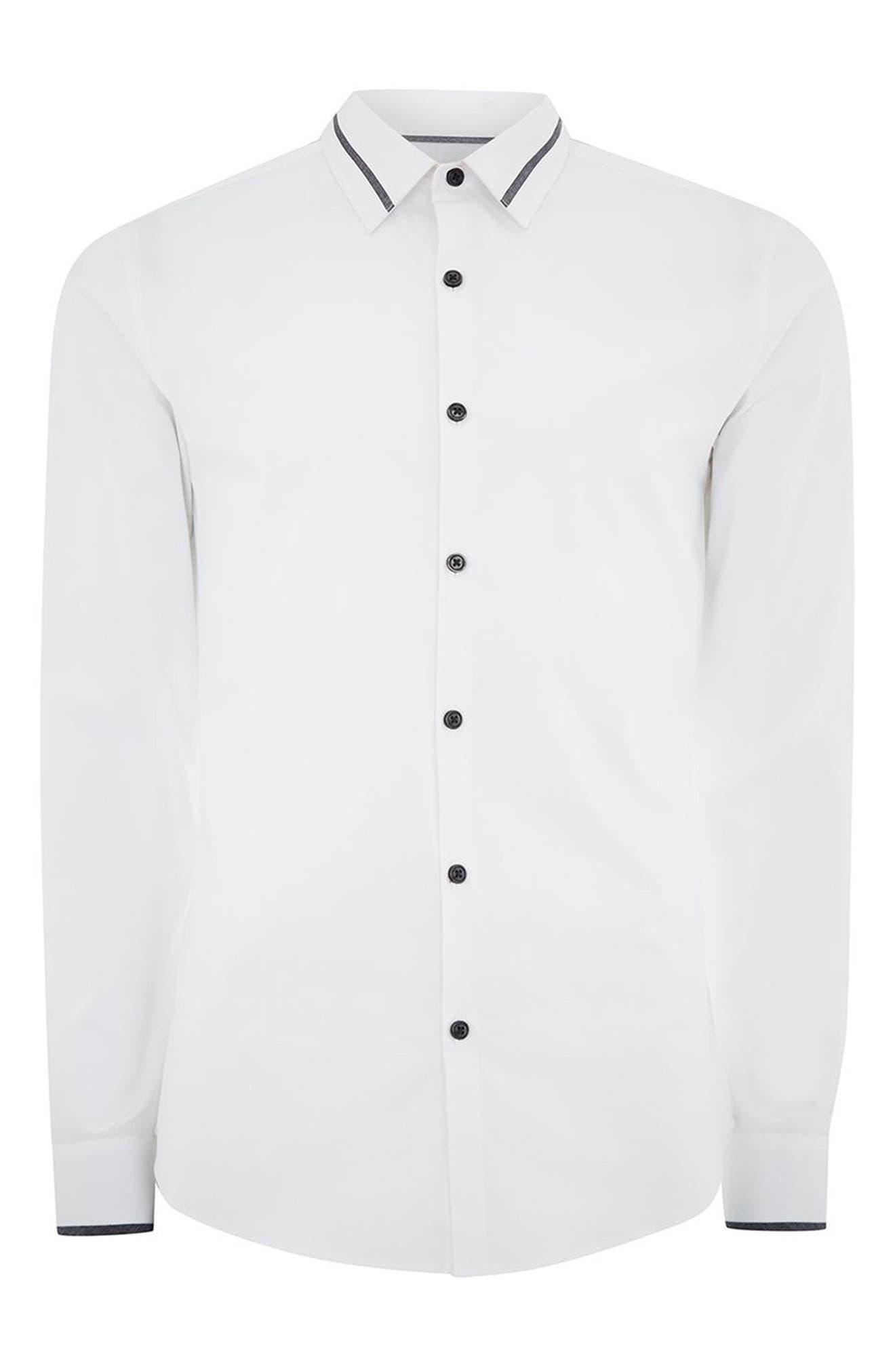 Alternate Image 6  - Topman Muscle Fit Contrast Trim Smart Shirt