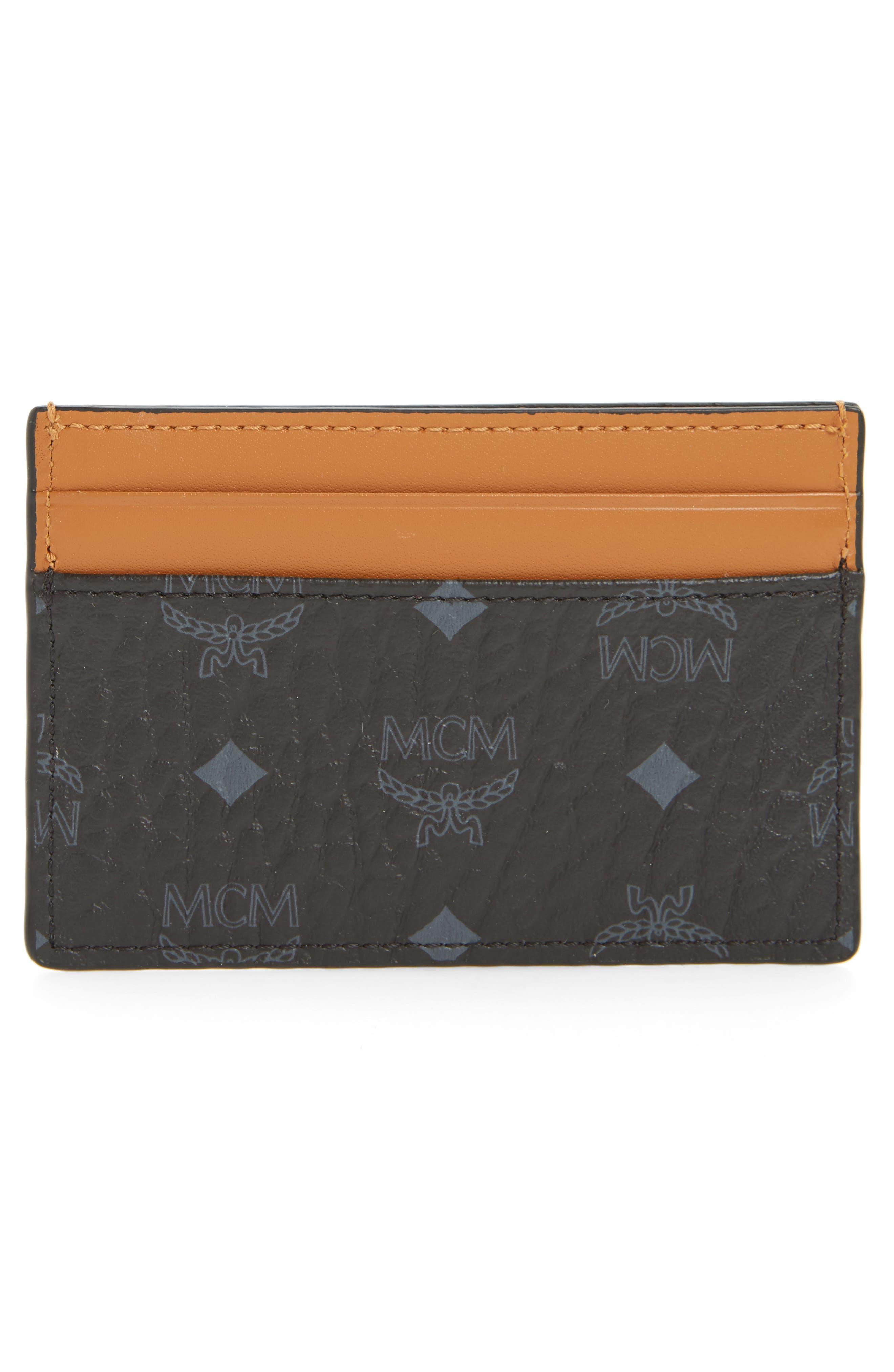 Alternate Image 2  - MCM Claus Mini Faux Leather Card Case