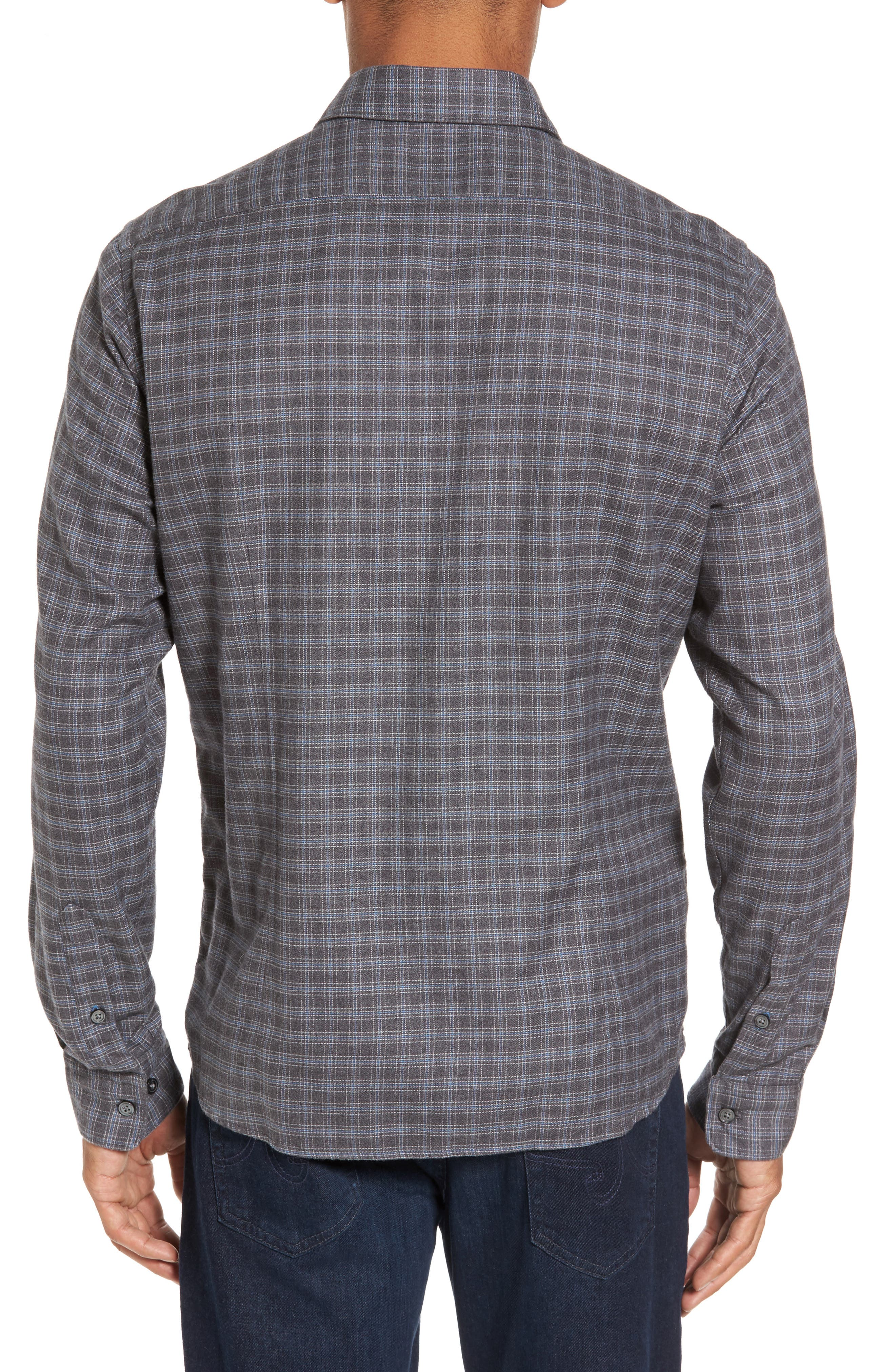 Alternate Image 2  - BOSS Lance Slim Fit Flannel Sport Shirt