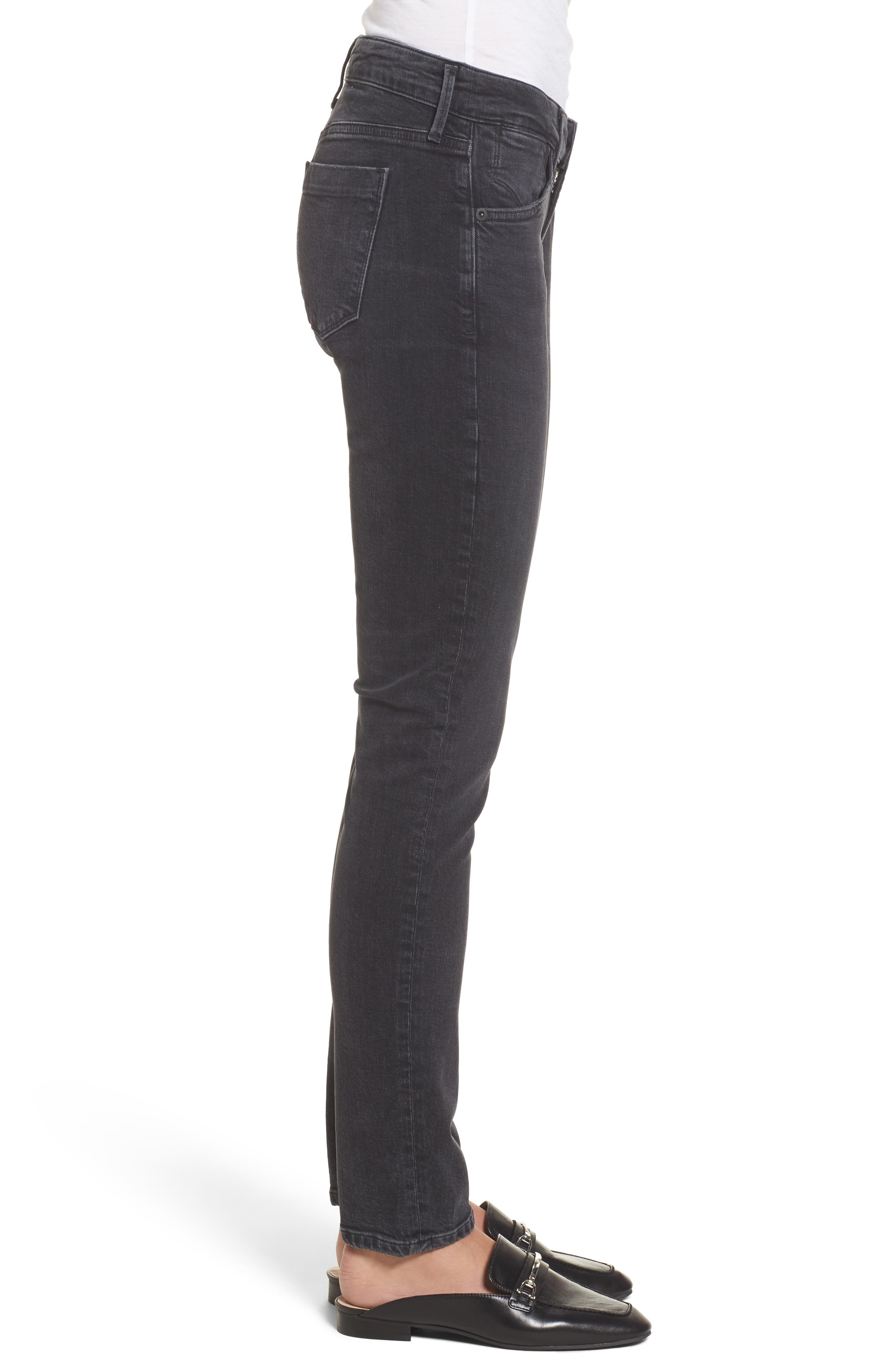Chloe Low Rise Slim Jeans,                             Alternate thumbnail 3, color,                             Chelsea