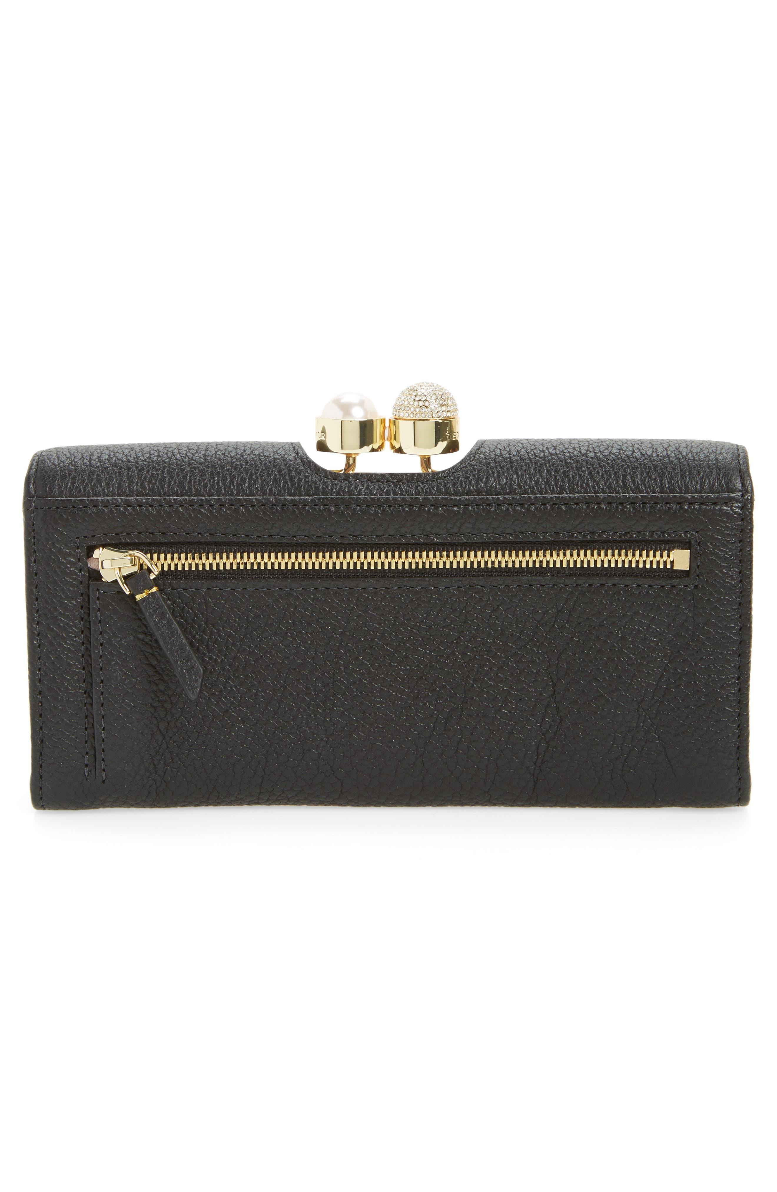 Alternate Image 3  - Ted Baker London Marta Bobble Matinée Leather Wallet