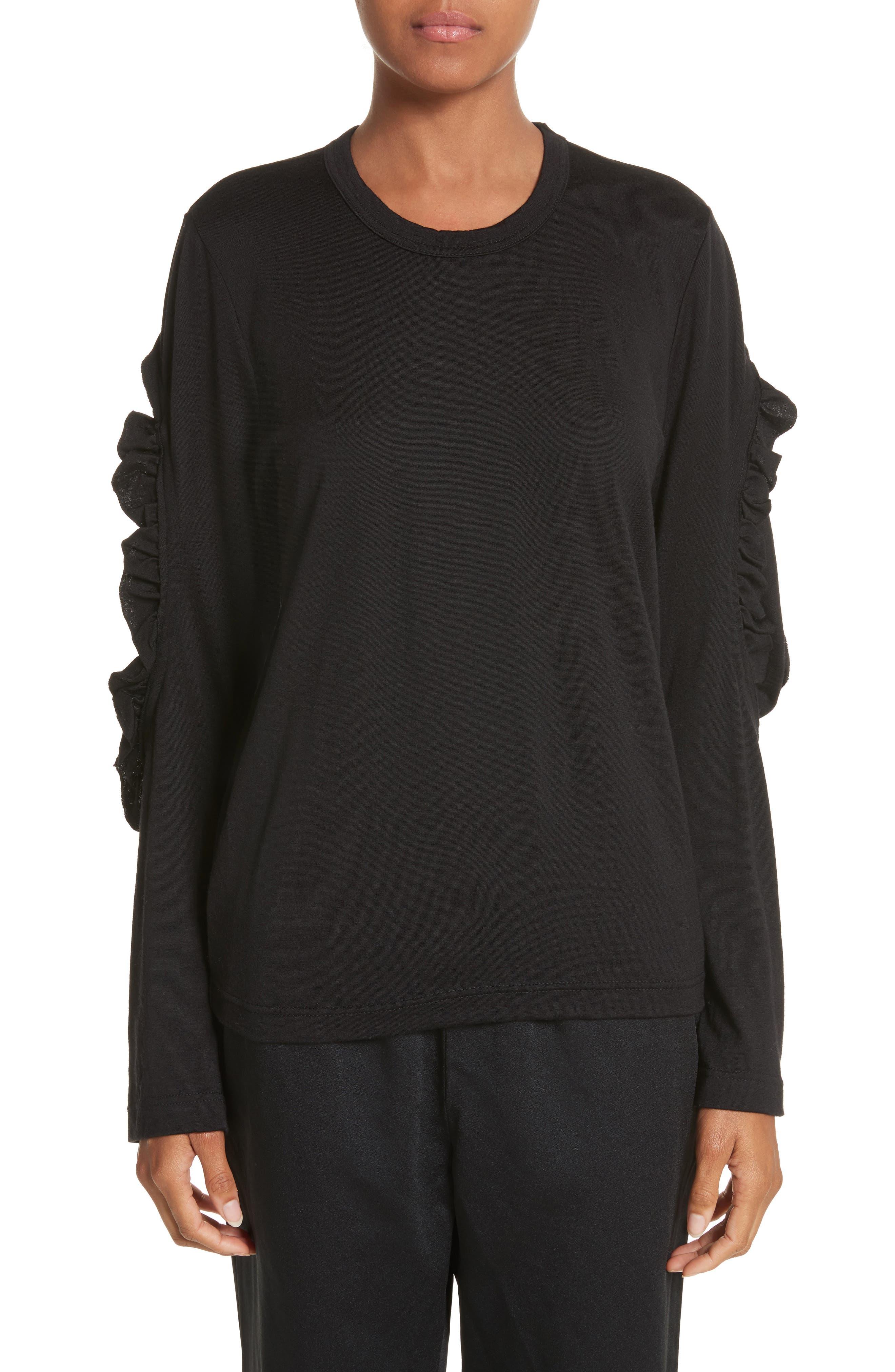 Alternate Image 1 Selected - Comme des Garçons Ruffle Sleeve Wool Top