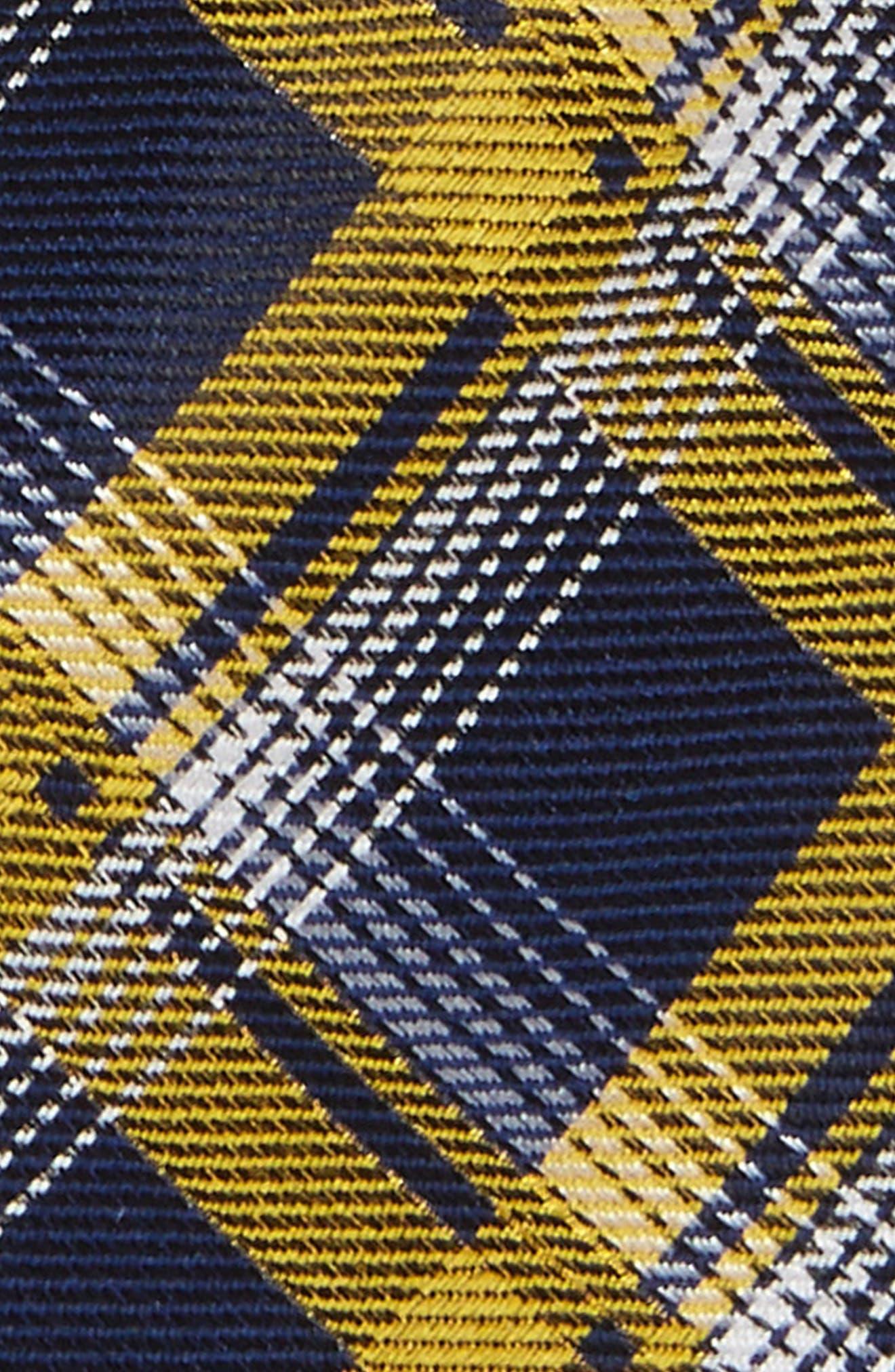 Check Silk Tie,                             Alternate thumbnail 2, color,                             Gold
