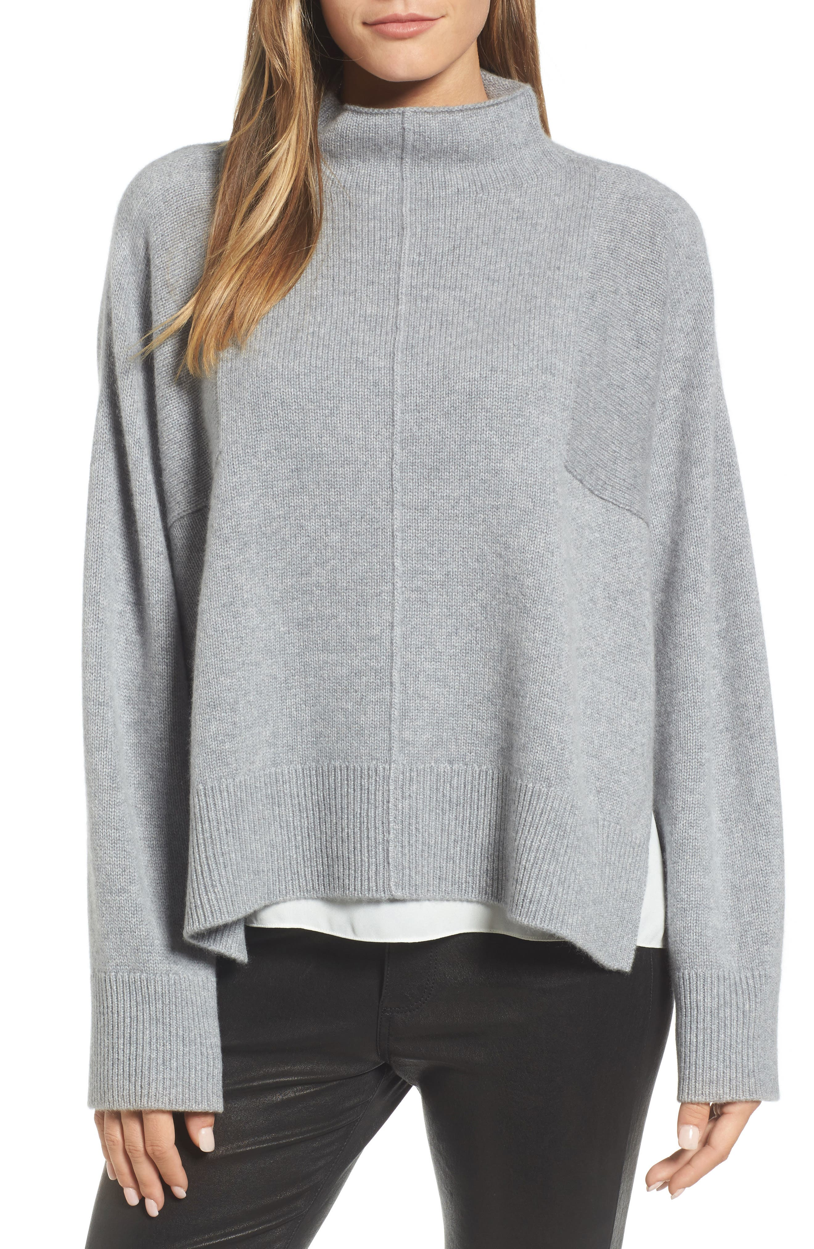 Main Image - Nordstrom Signature Side Slit Cashmere Sweater