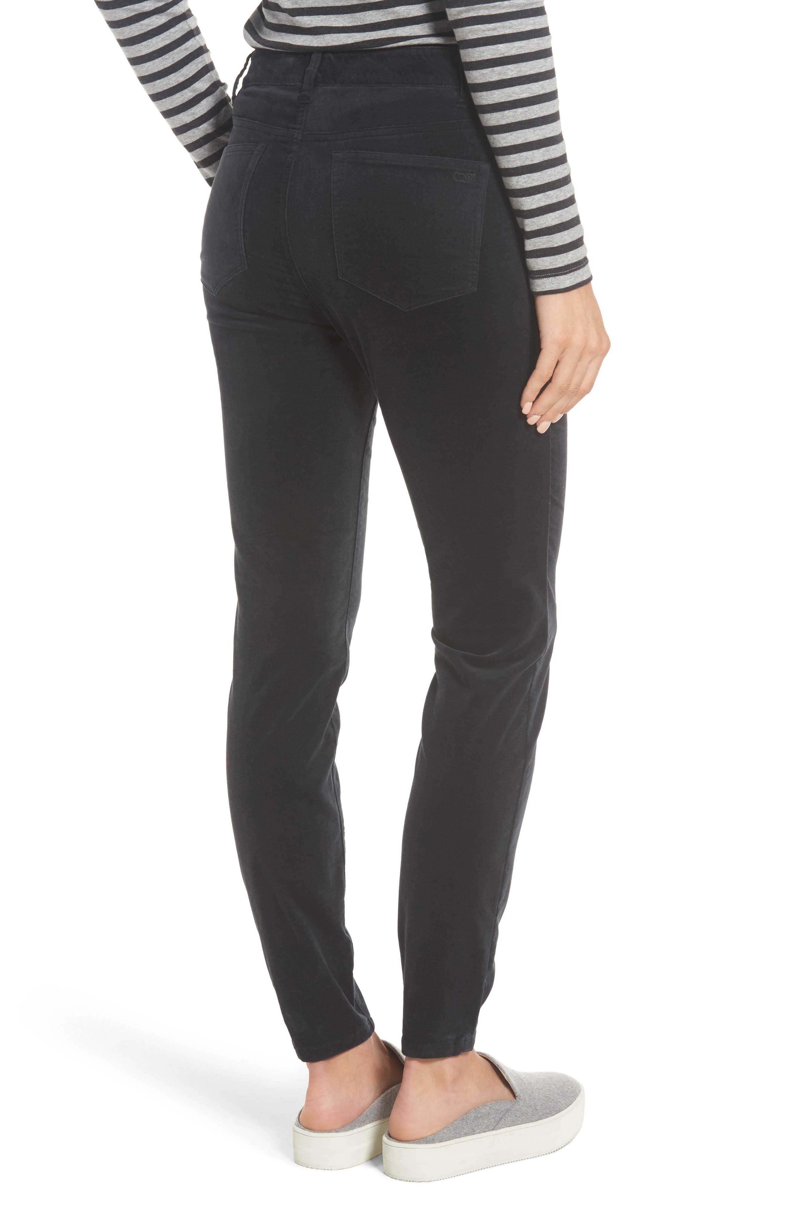 Velvet Skinny Jeans,                             Alternate thumbnail 2, color,                             Jet Black