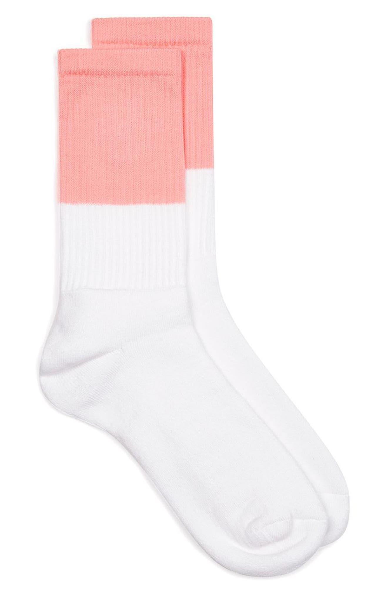 Main Image - Topman Colorblock Tube Socks