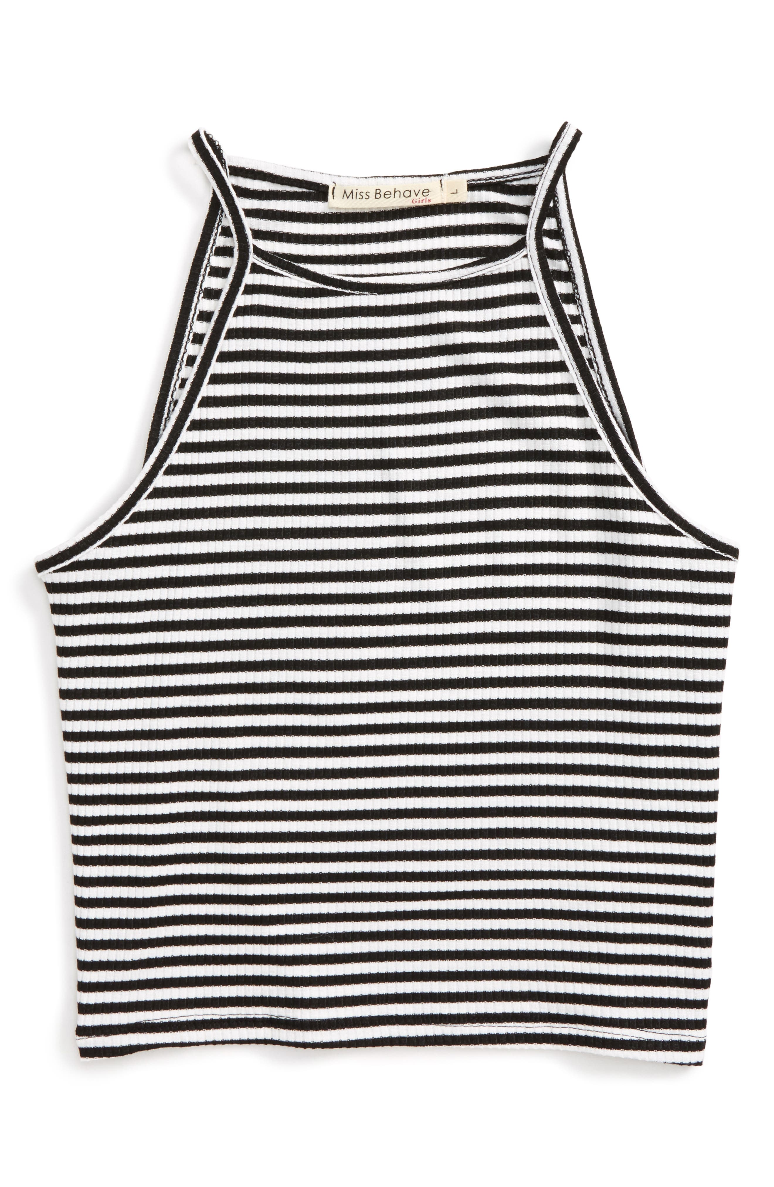 Miss Behave Alice Stripe Tank Top (Big Girls)
