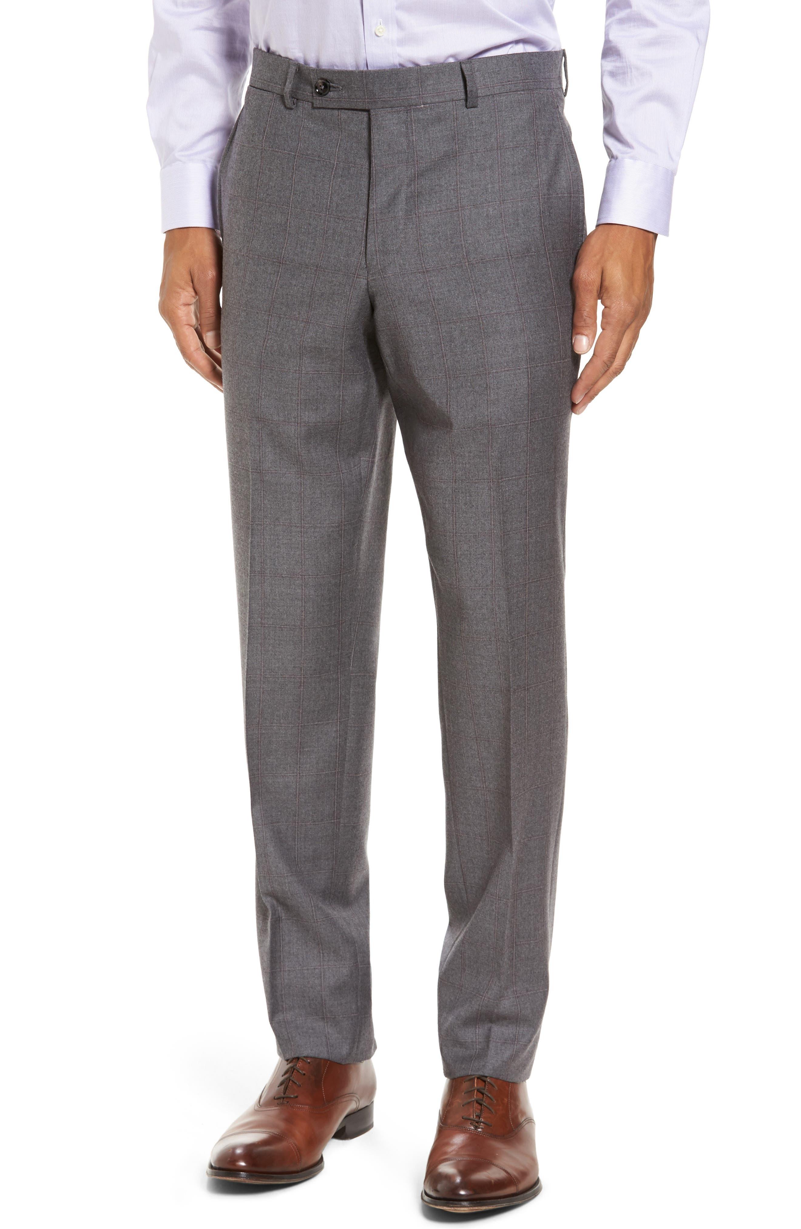 Alternate Image 6  - Ted Baker London Trim Fit Windowpane Wool Suit