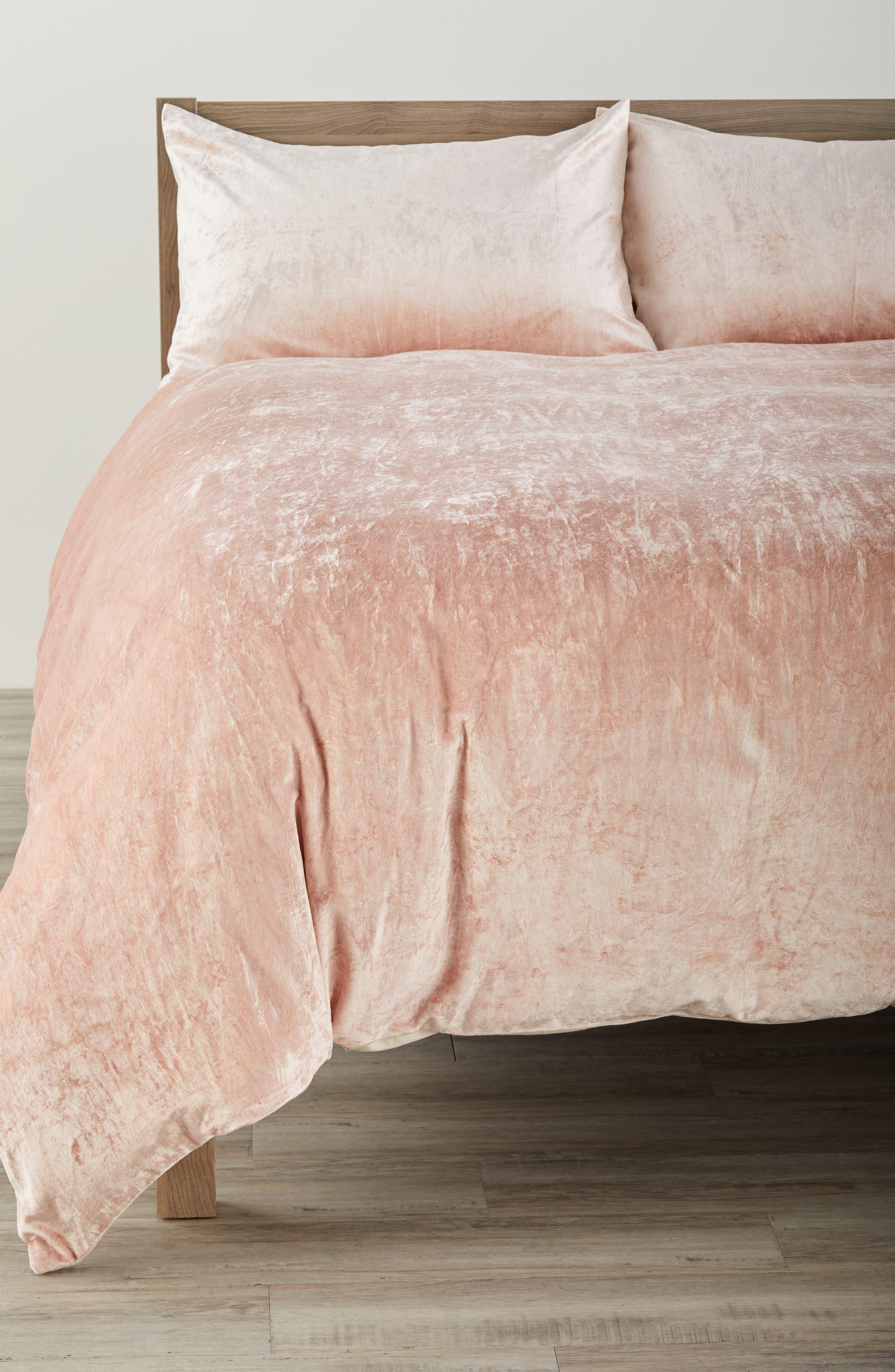 Nordstrom at Home Shimmer Velvet Duvet Cover