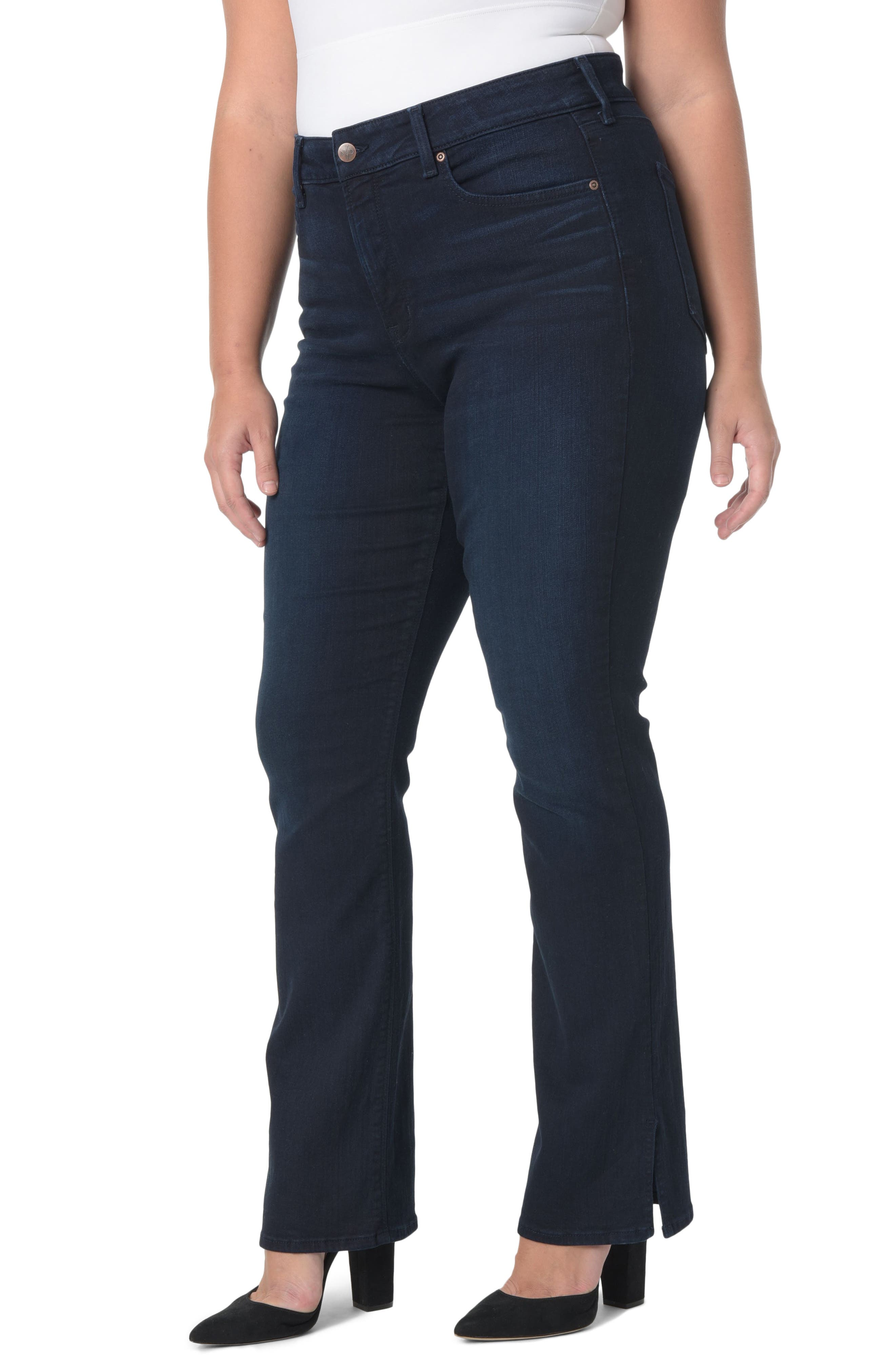 NYDJ Billie Stretch Mini Bootcut Jeans (Sinclair) (Plus Size)