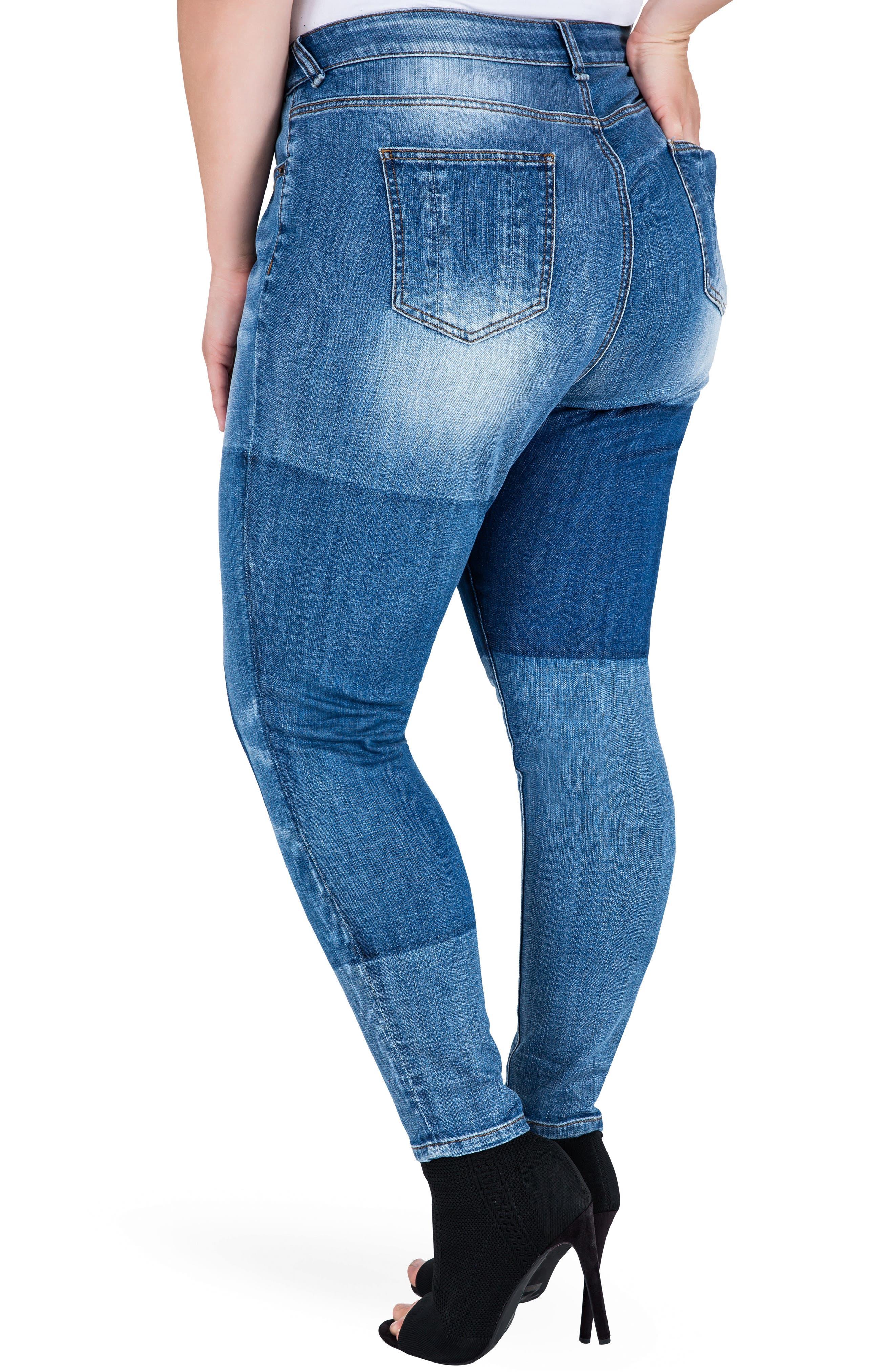 Alternate Image 3  - Standards & Practices Isabel Colorblock Skinny Jeans (Plus Size)
