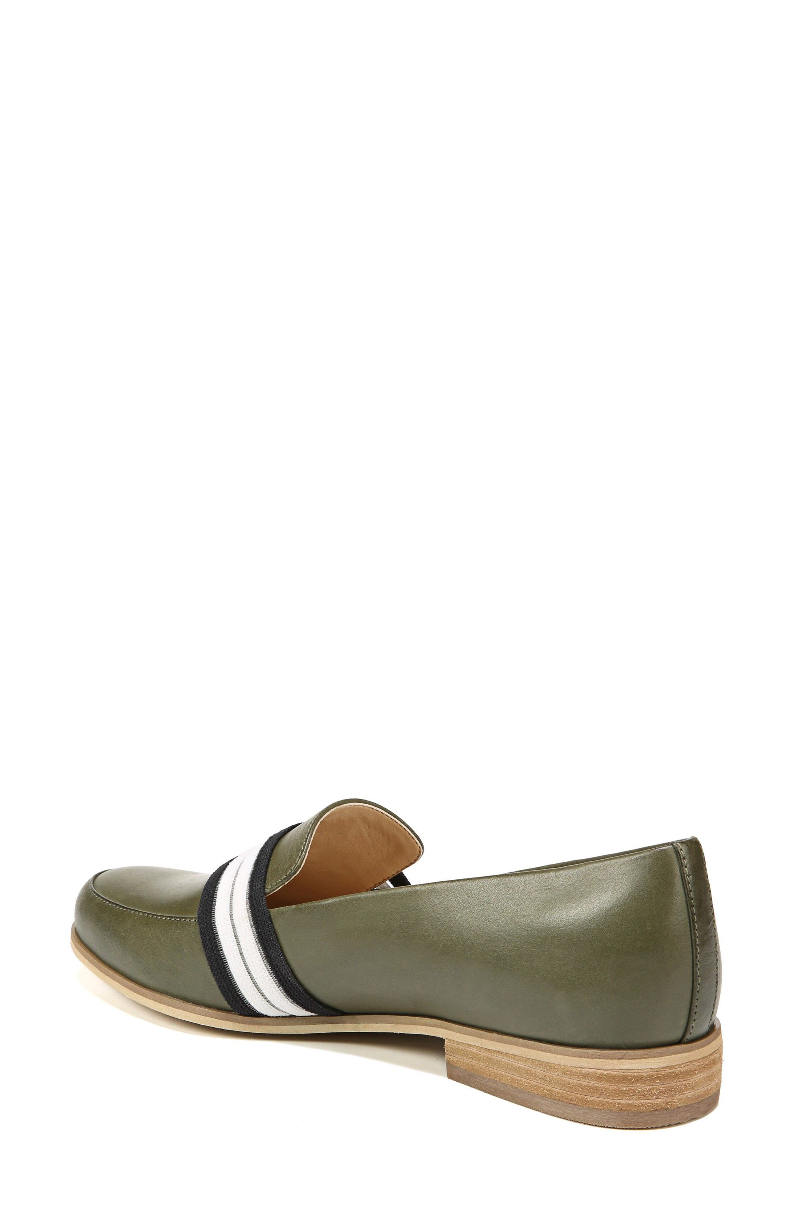 Everett Band Loafer,                             Alternate thumbnail 2, color,                             Green Leather