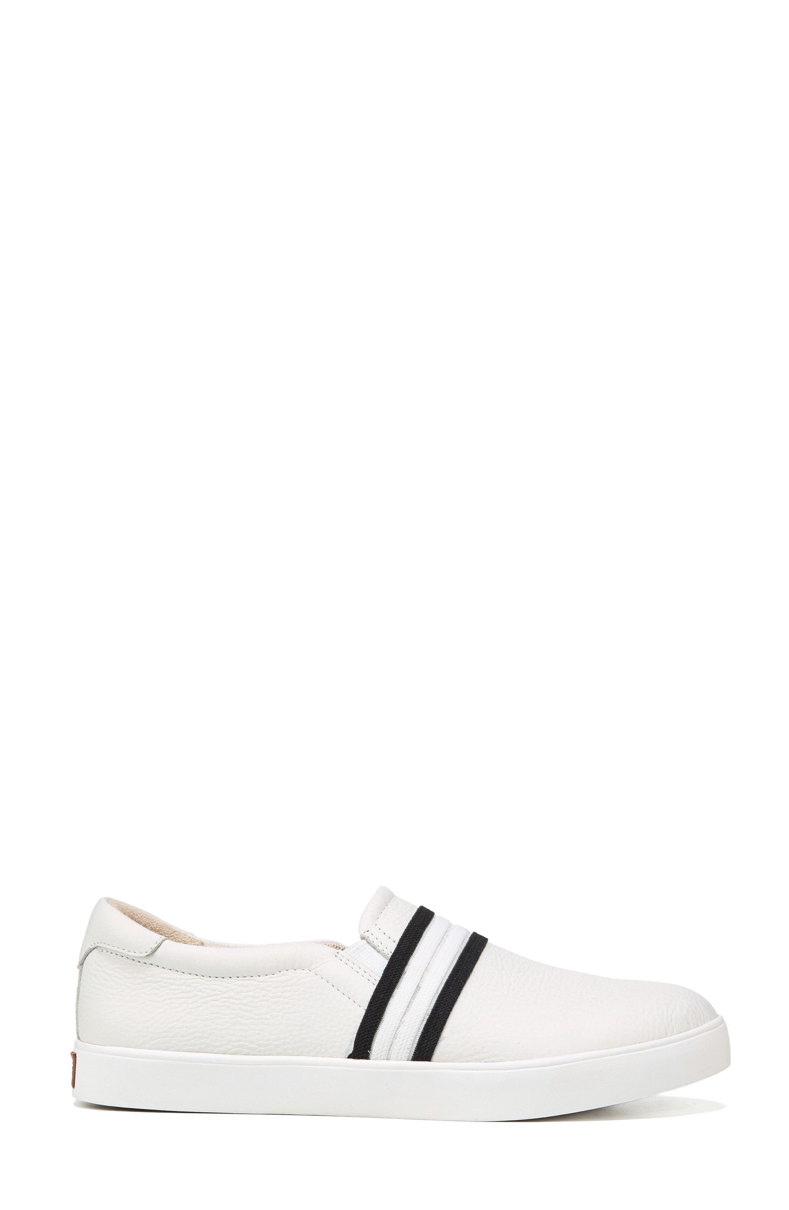 Scout Slip-On Sneaker,                             Alternate thumbnail 3, color,                             White Leather
