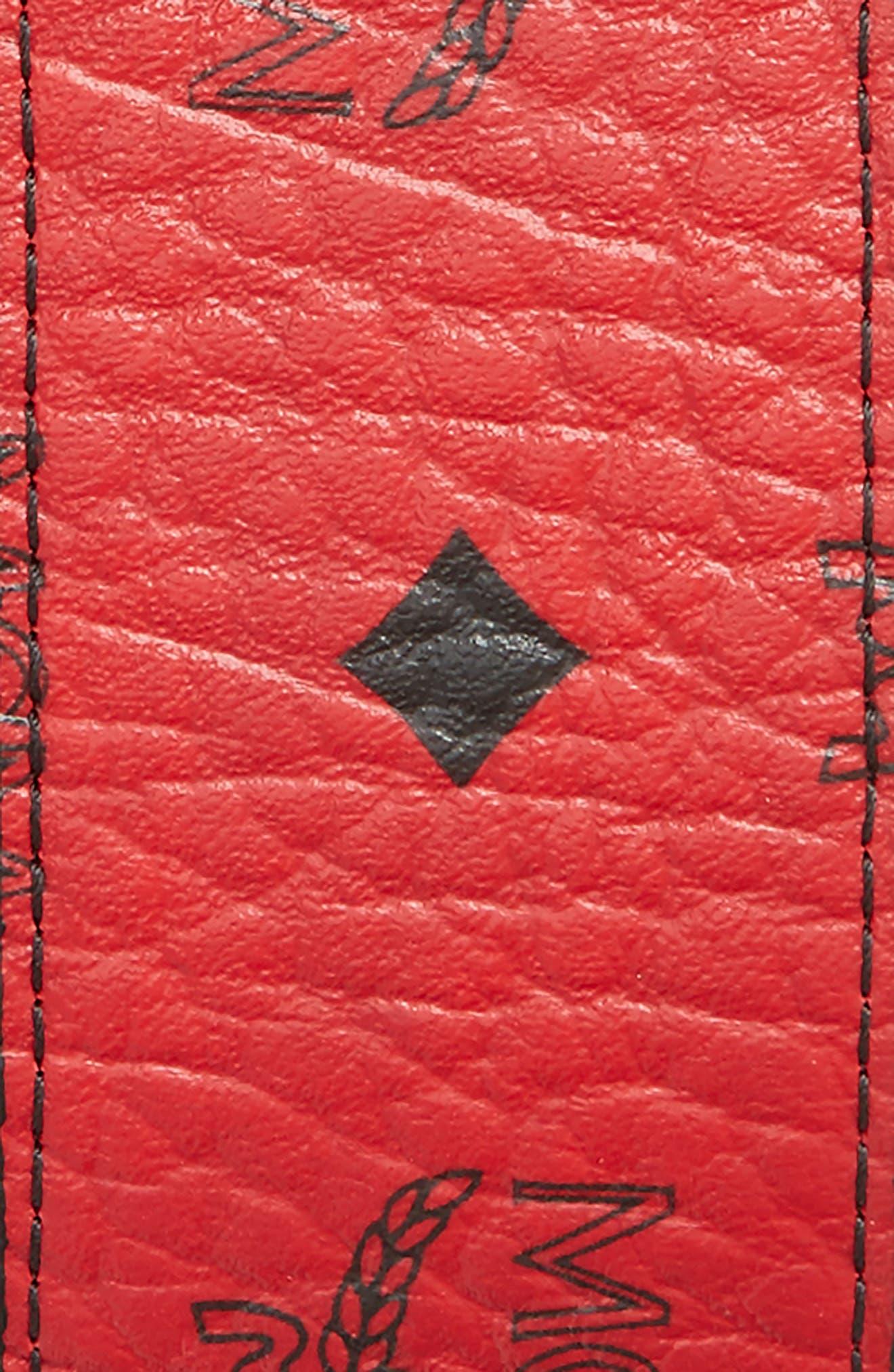 Alternate Image 2  - MCM Reversible Signature Leather Belt