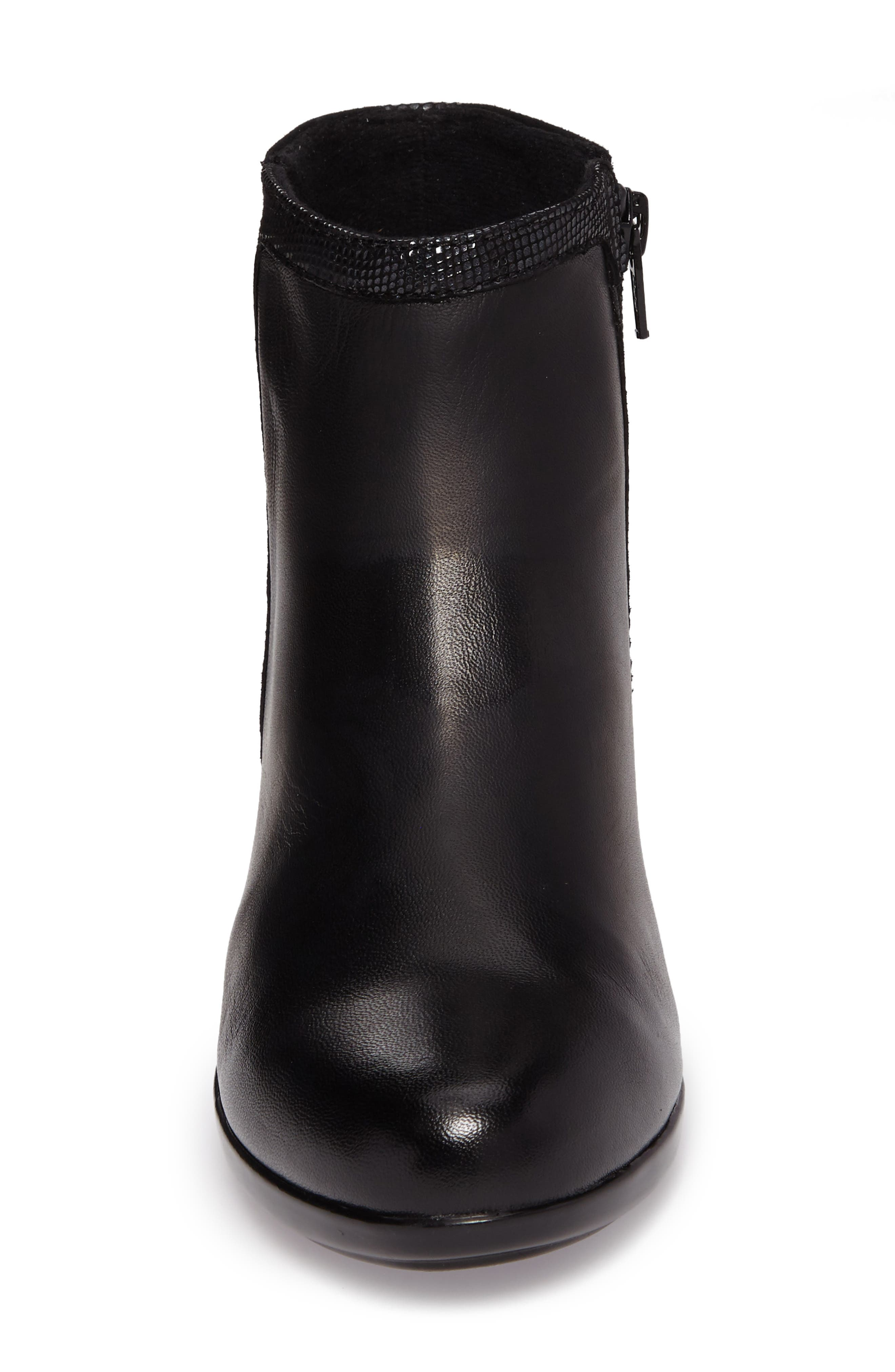 Lexee Wateproof Bootie,                             Alternate thumbnail 4, color,                             Black Leather