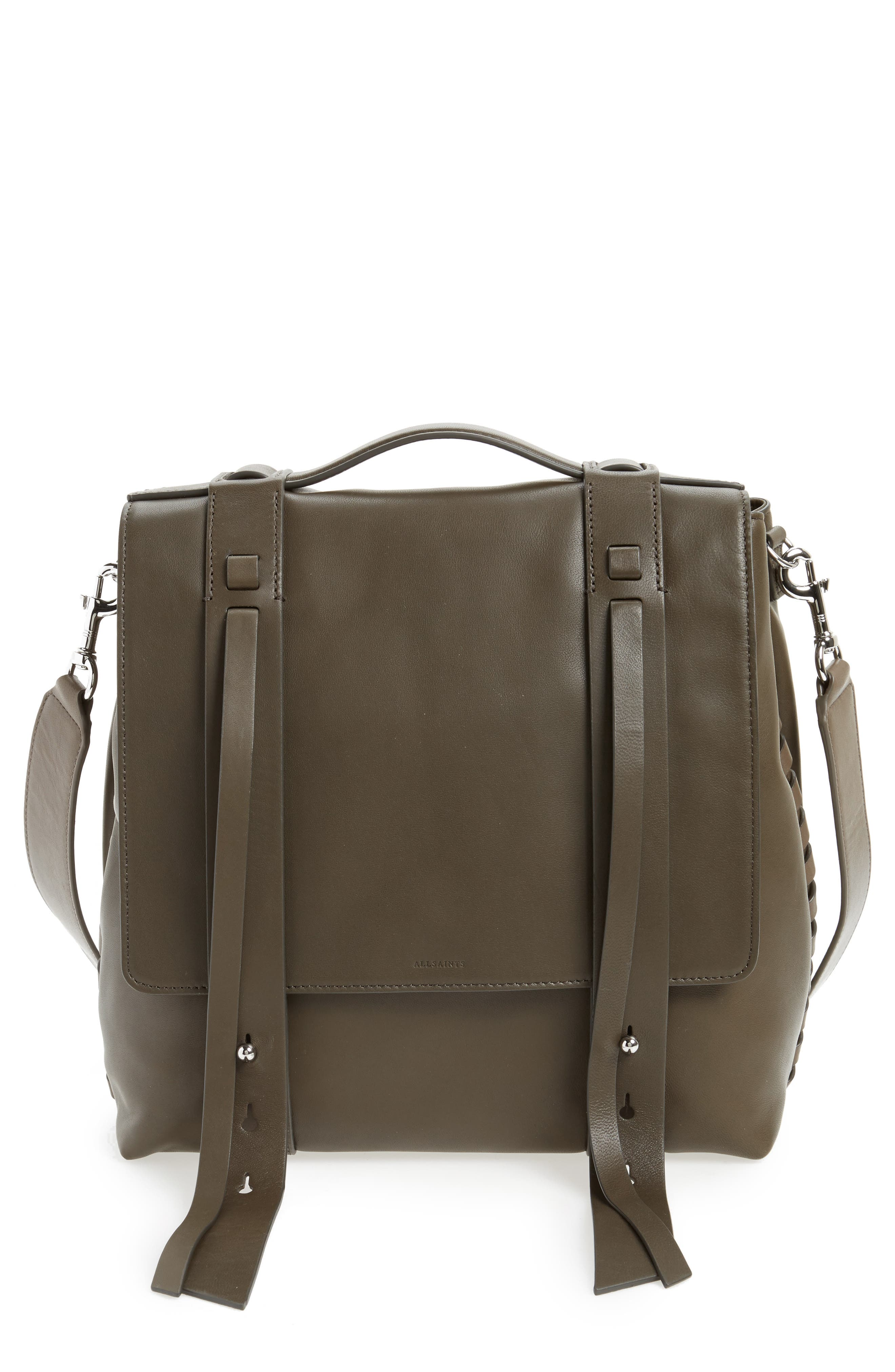 Main Image - ALLSAINTS Fin Leather Backpack