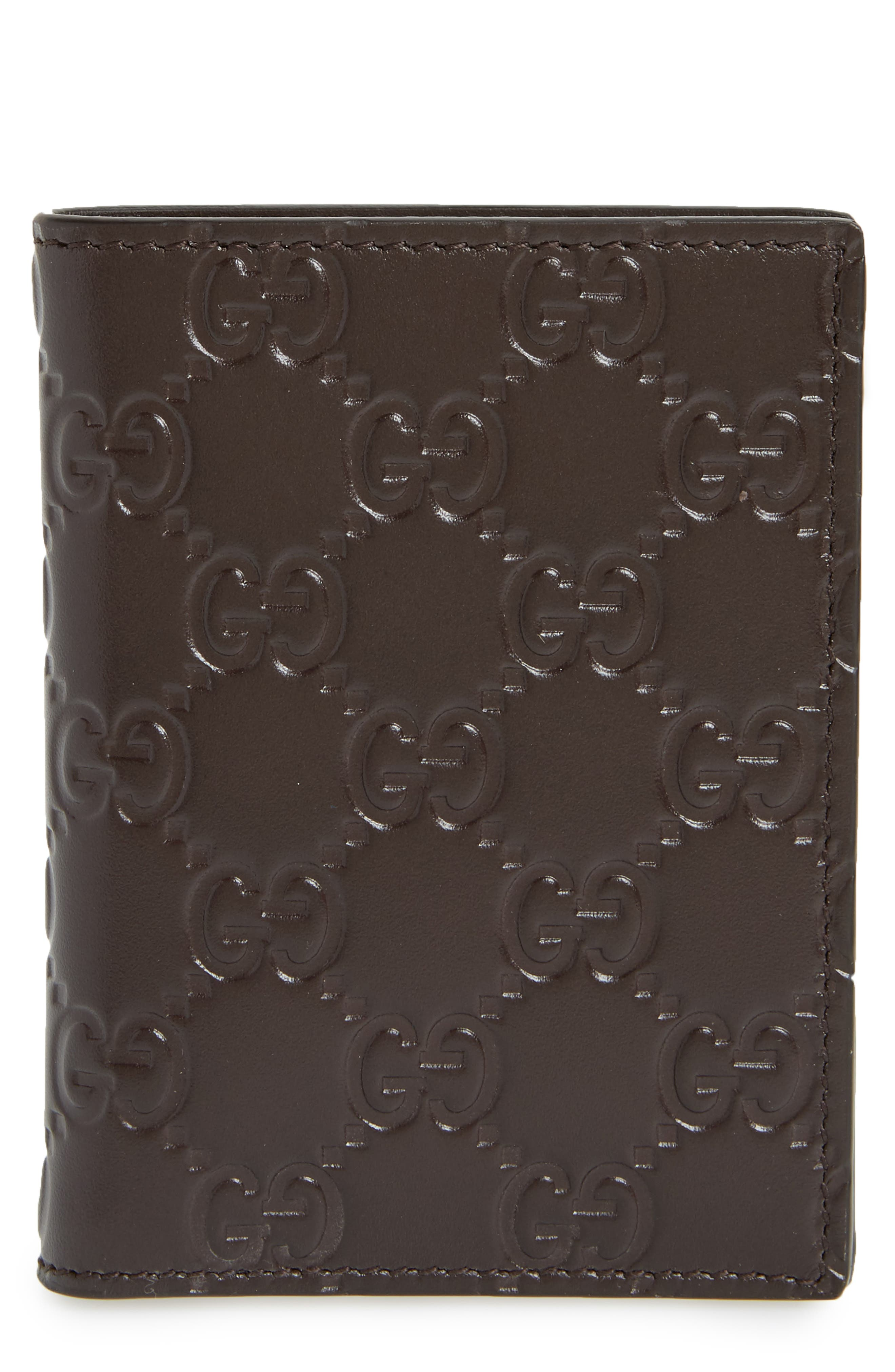 Avel Leather Card Case,                         Main,                         color, Cocoa