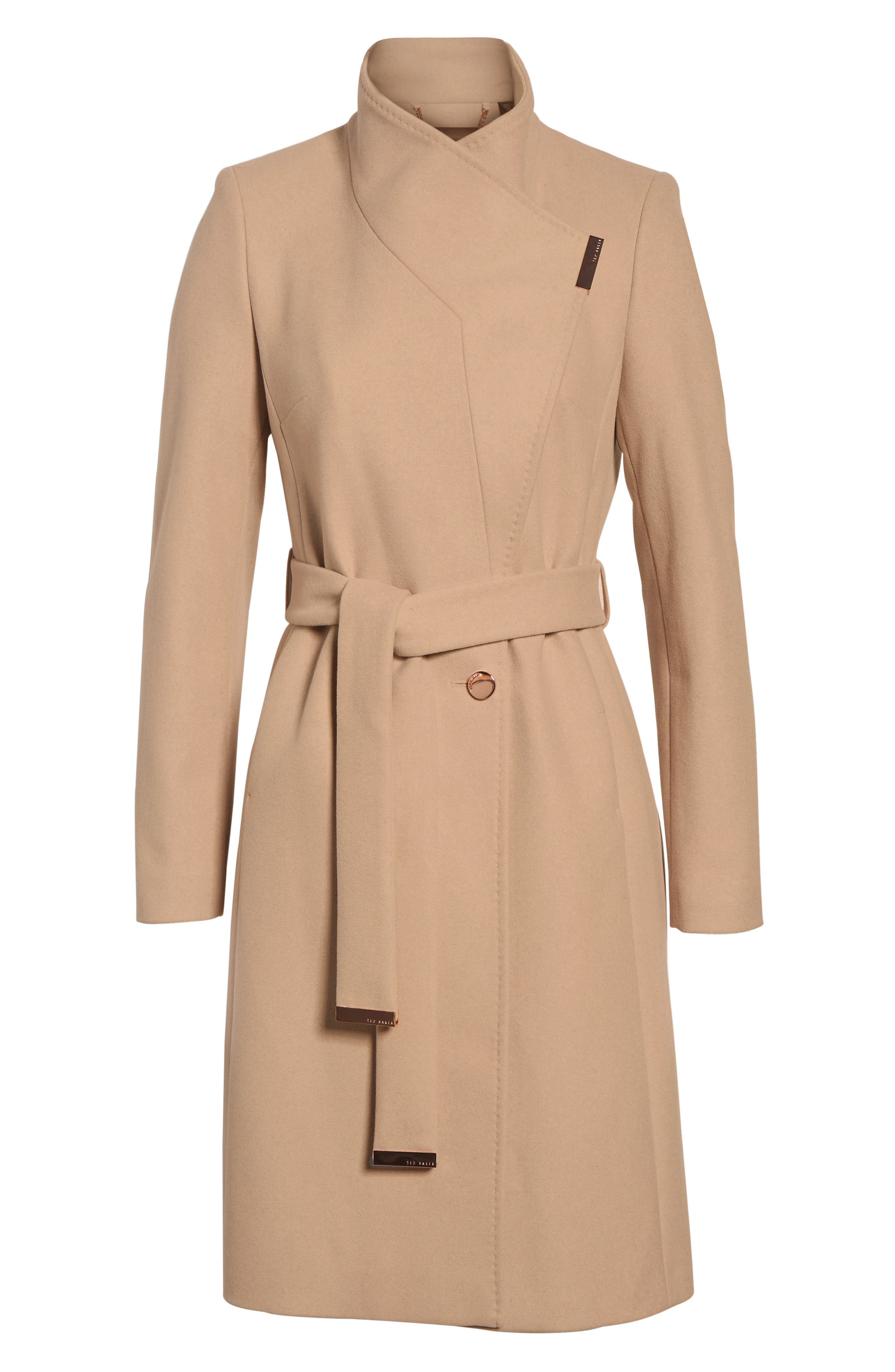 Alternate Image 5  - Ted Baker London Wool Blend Long Wrap Coat