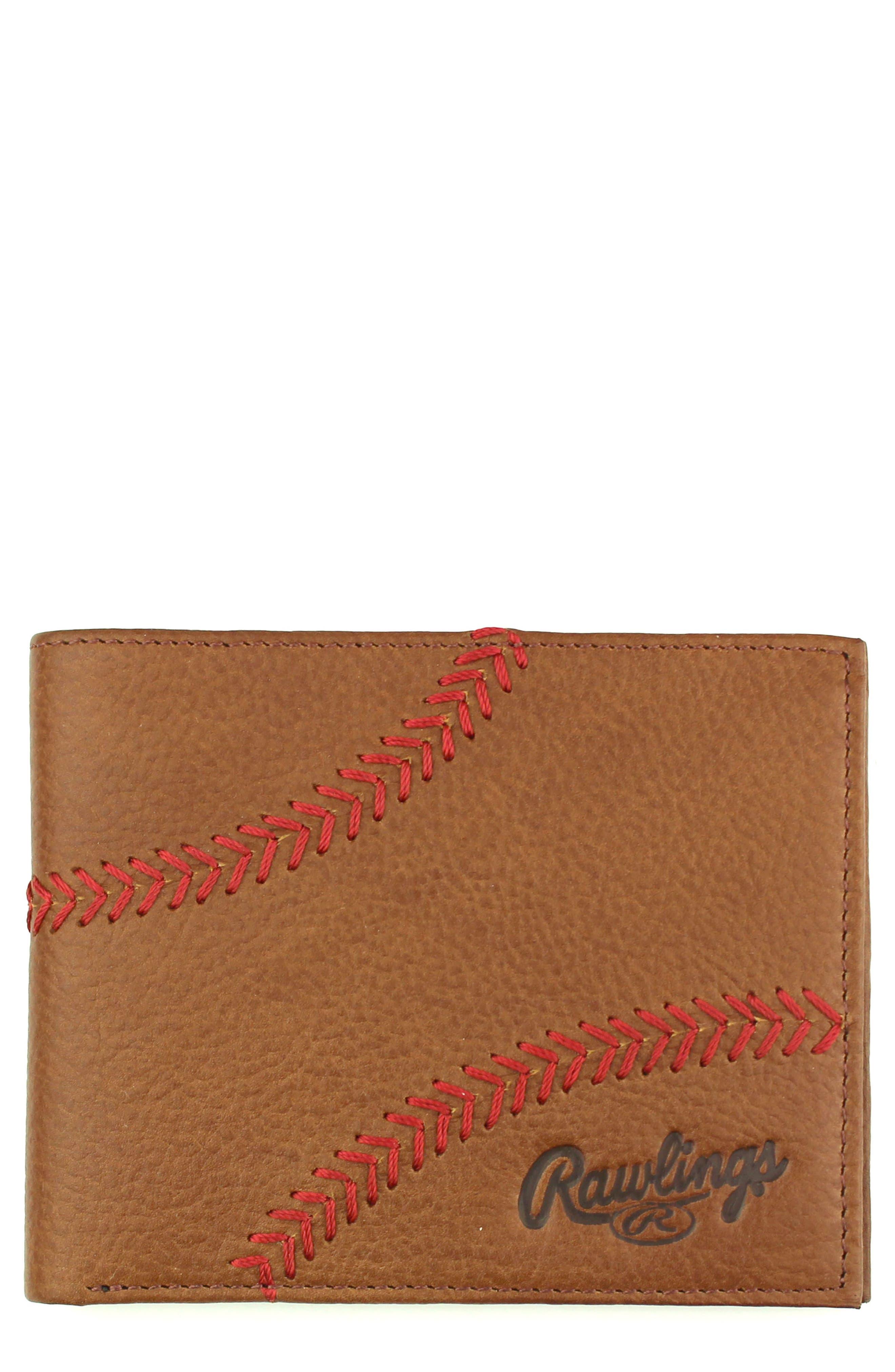 Main Image - Rawlings Home Run Bifold Leather Wallet