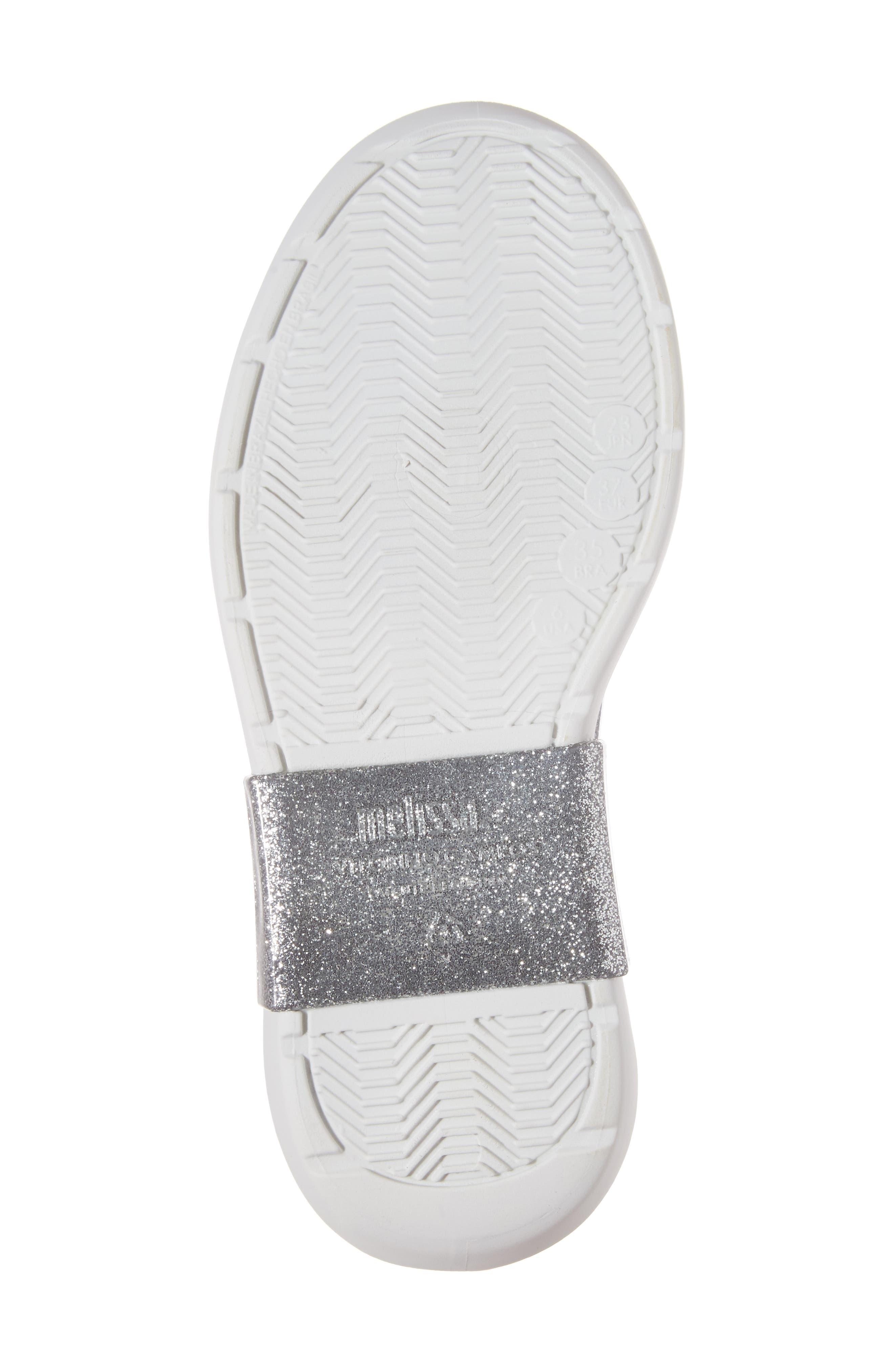 Grunge Vitorino Water Resistant Oxford,                             Alternate thumbnail 6, color,                             Silver Glitter White