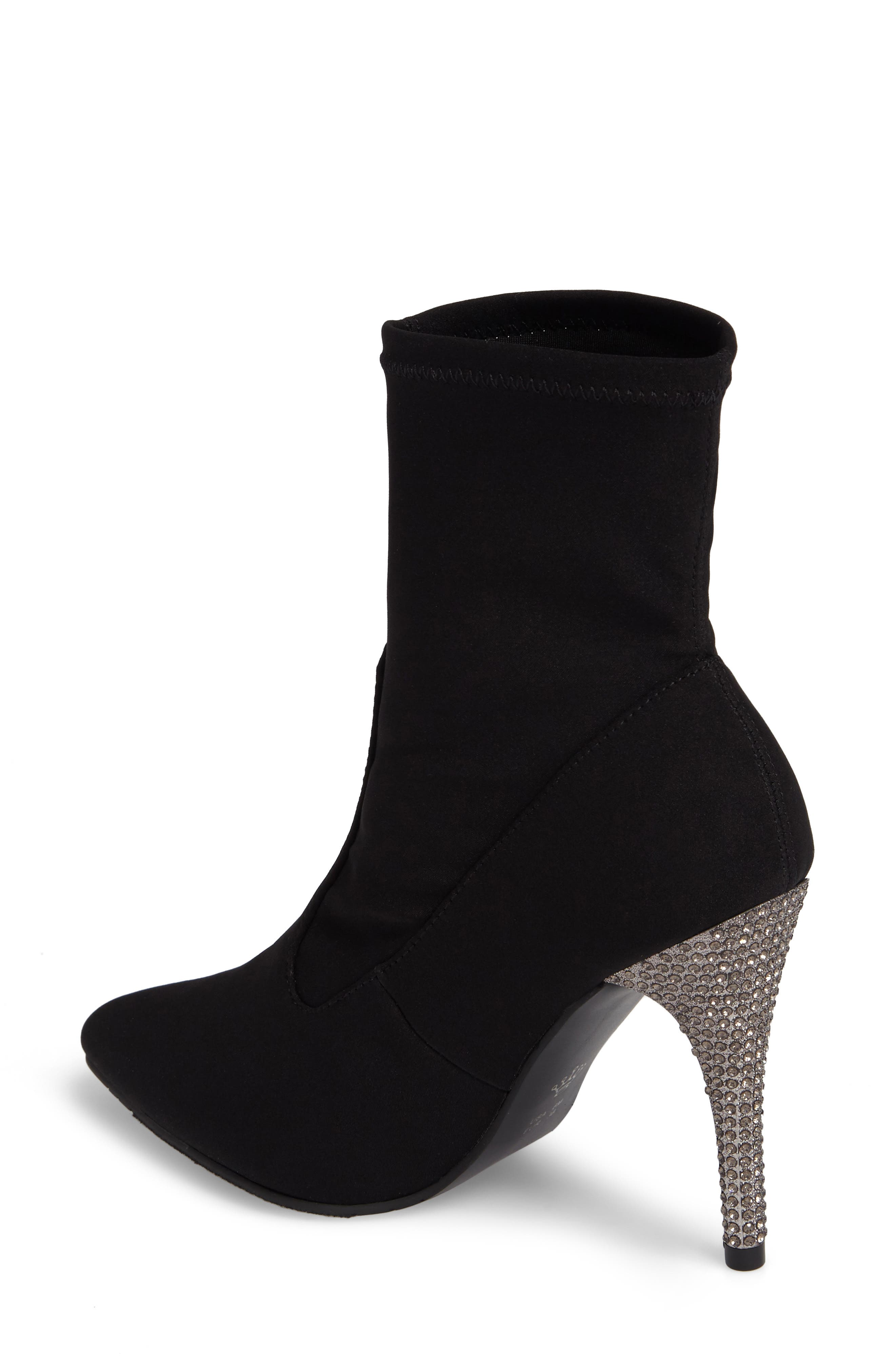 Roxie Bootie,                             Alternate thumbnail 2, color,                             Black Fabric