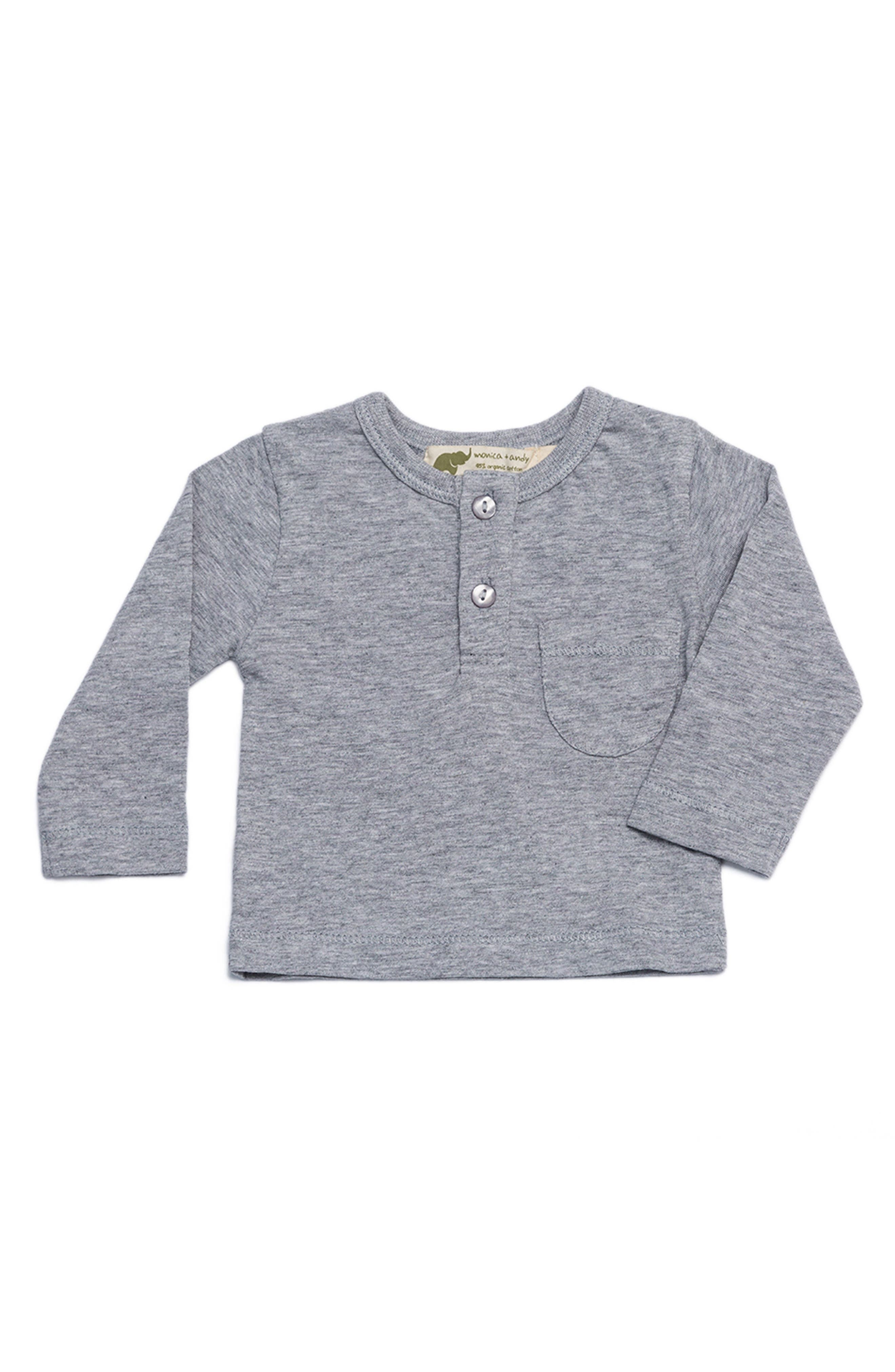 Alternate Image 1 Selected - Monica + Andy Organic Cotton Henley T-Shirt (Baby)