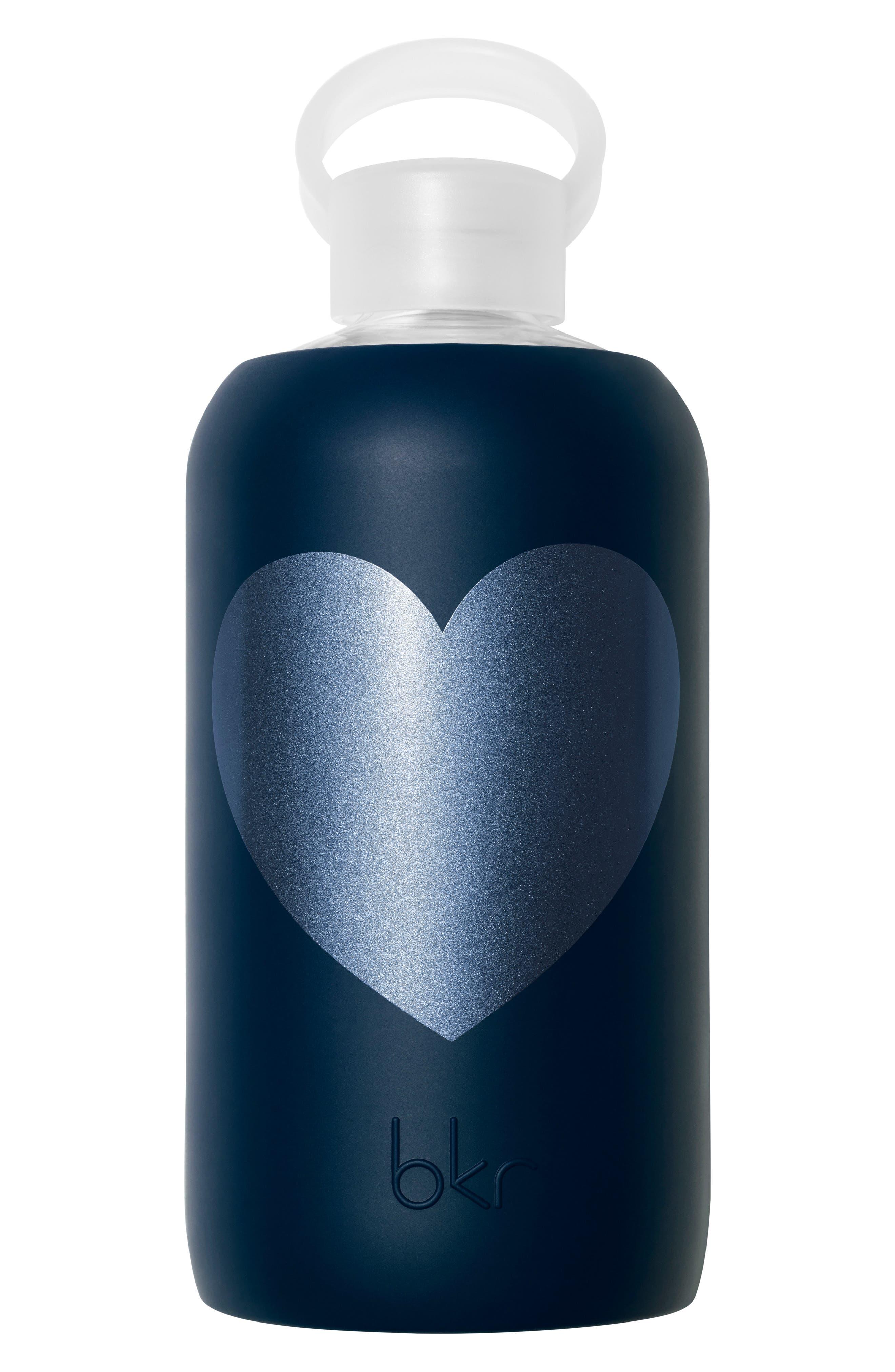 Alternate Image 1 Selected - bkr® Heart 32-Ounce Glass Water Bottle
