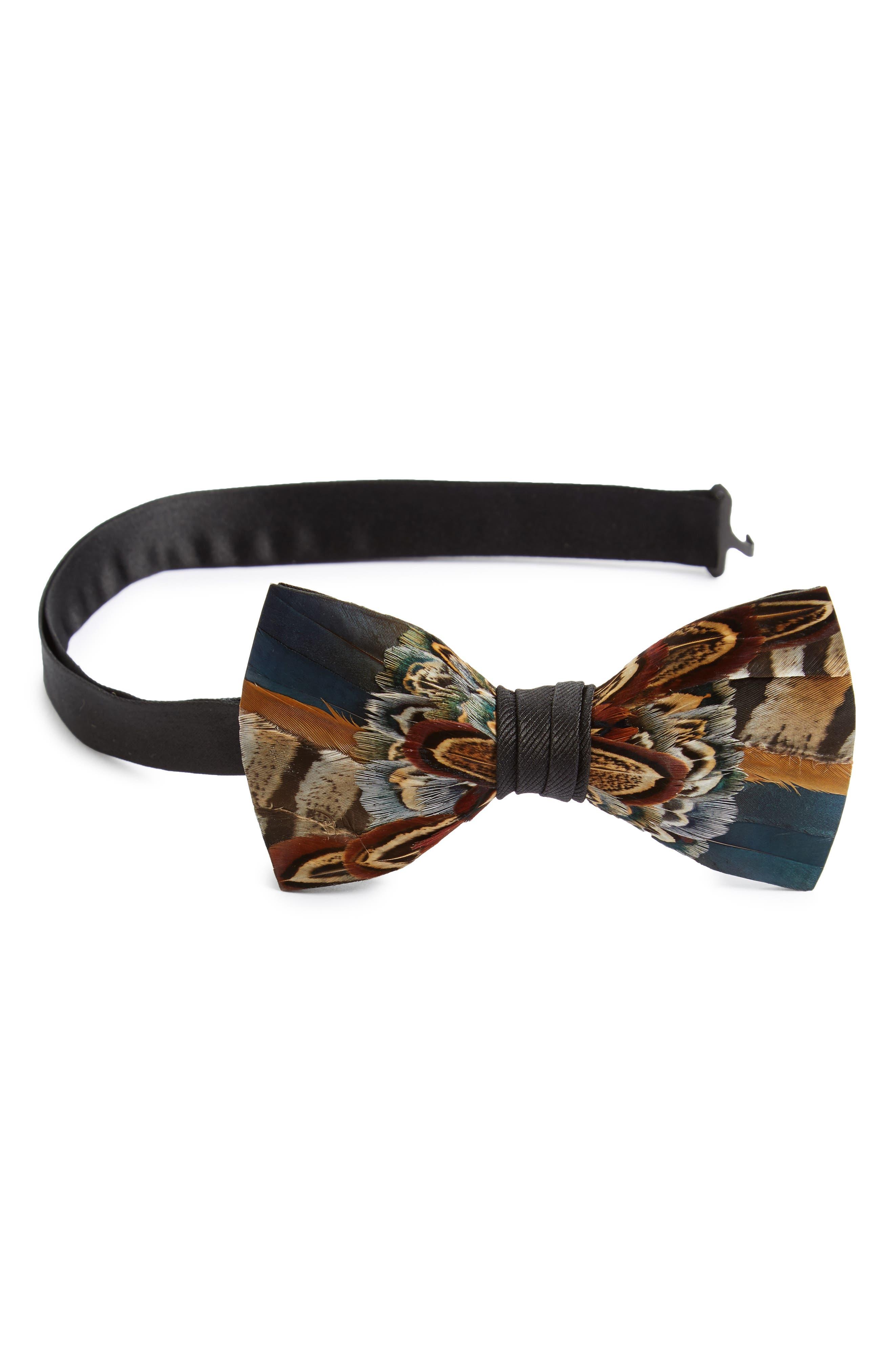 Brackish & Bell Kiawah Feather Bow Tie