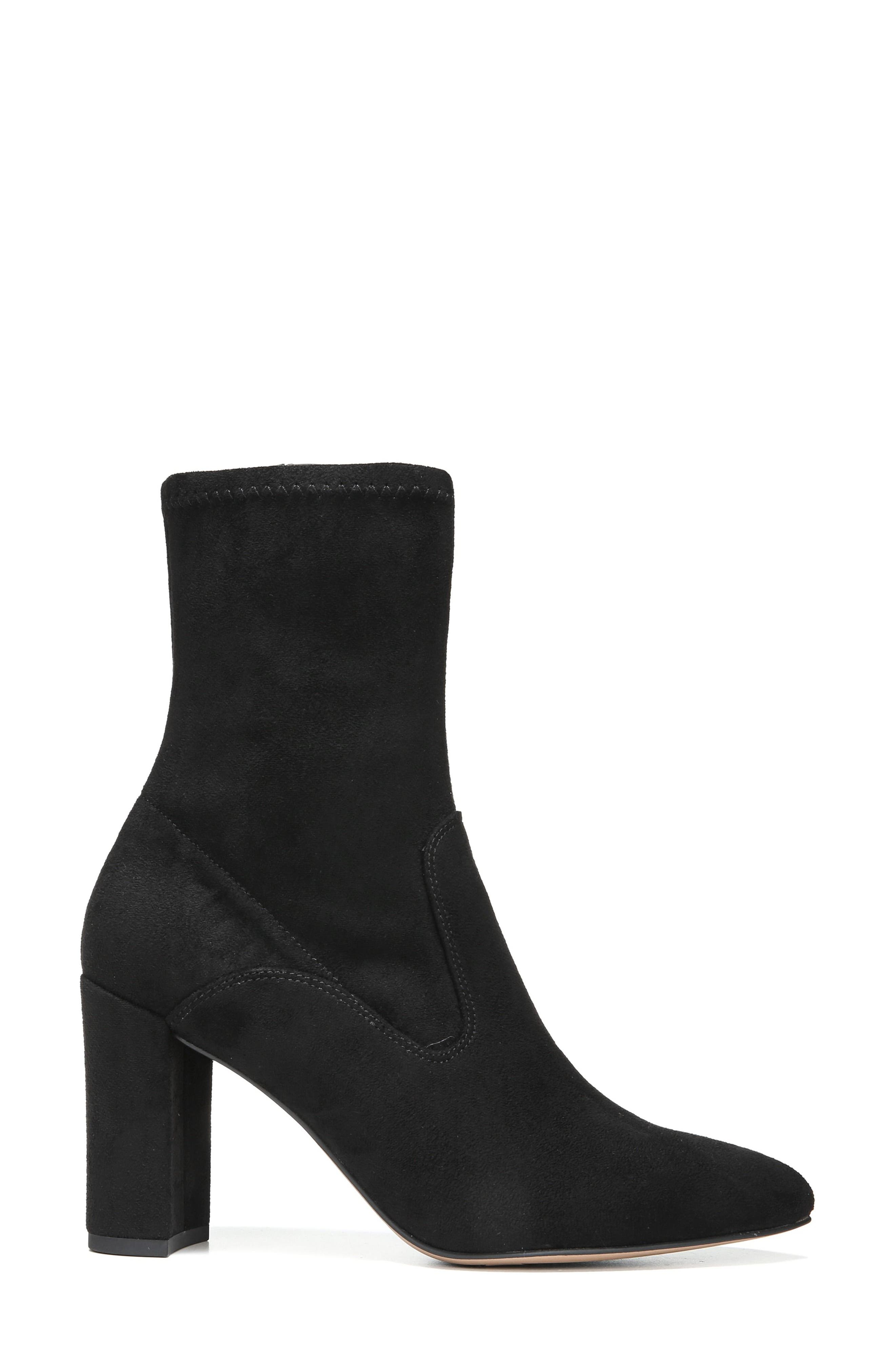 Fancy Boot,                             Alternate thumbnail 3, color,                             Black Suede