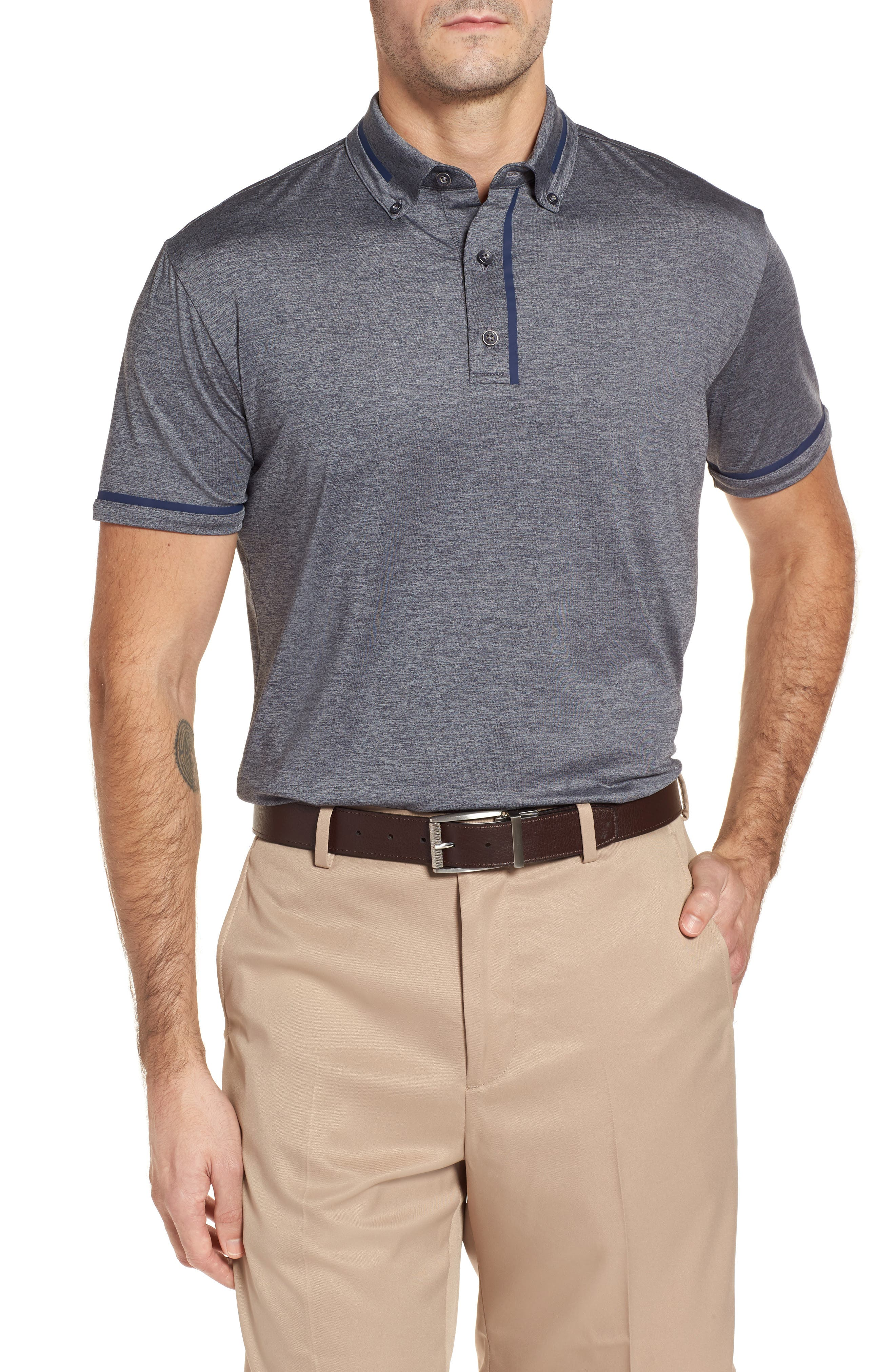 Main Image - Bobby Jones R18 Tech Chapman Welded Trim Polo
