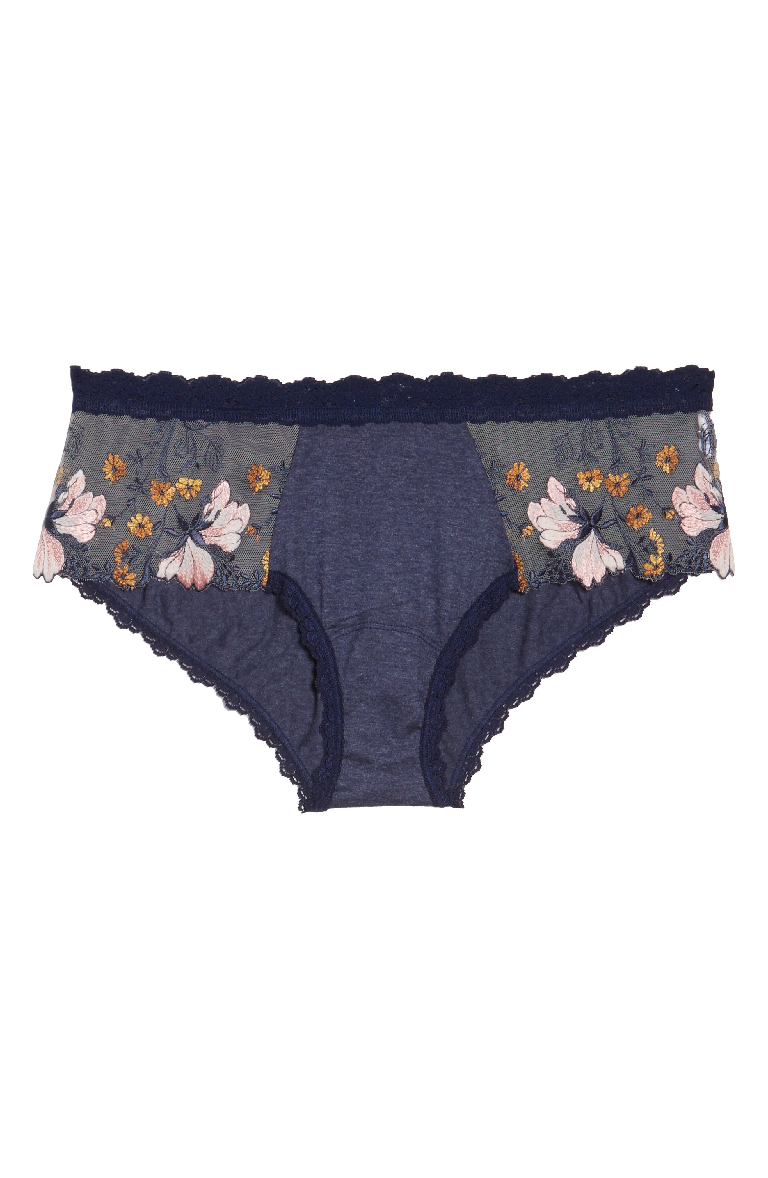 Alternate Image 4  - Hanky Panky Embroidered Hipster Briefs