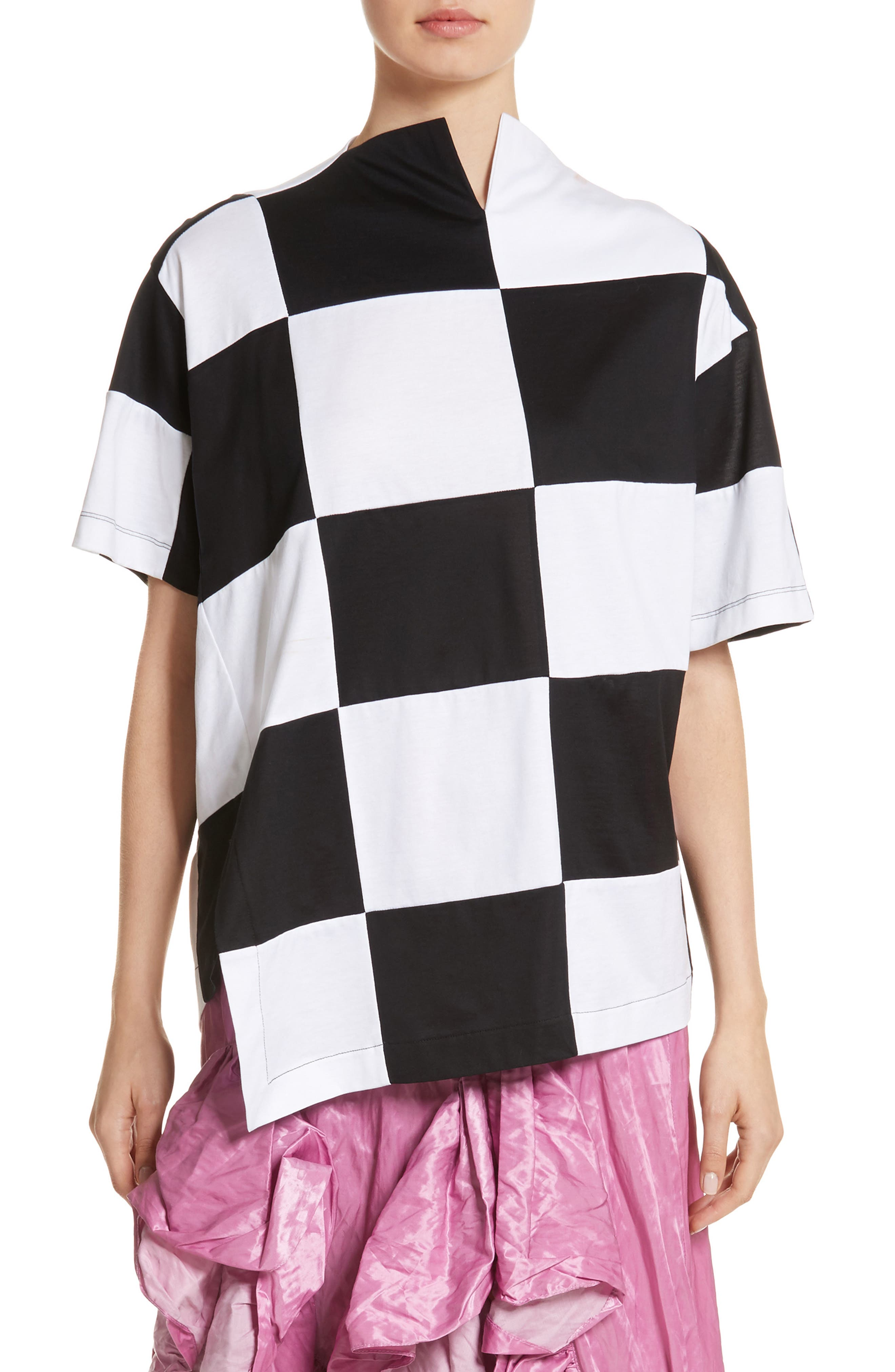 Marques'Almeida Check Side Slit Tee