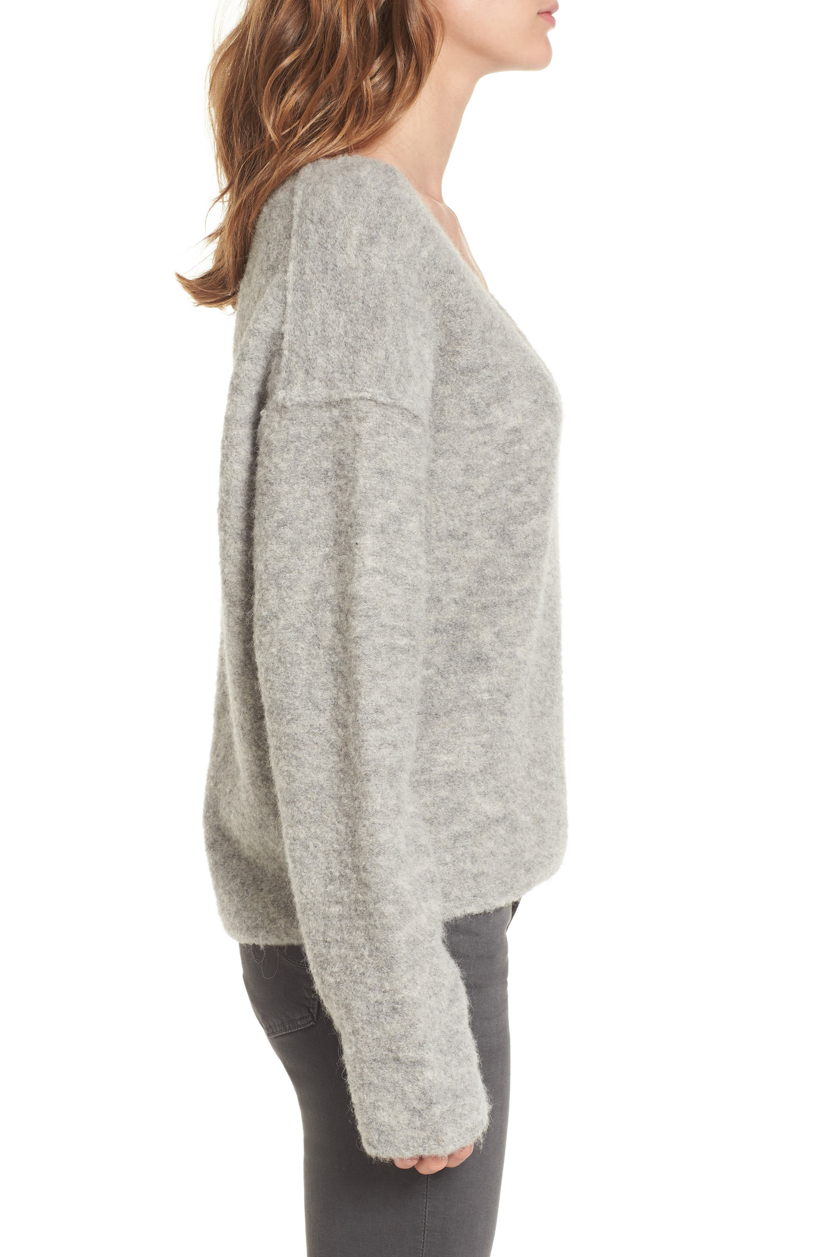 Skye Sweater,                             Alternate thumbnail 3, color,                             Heather Grey