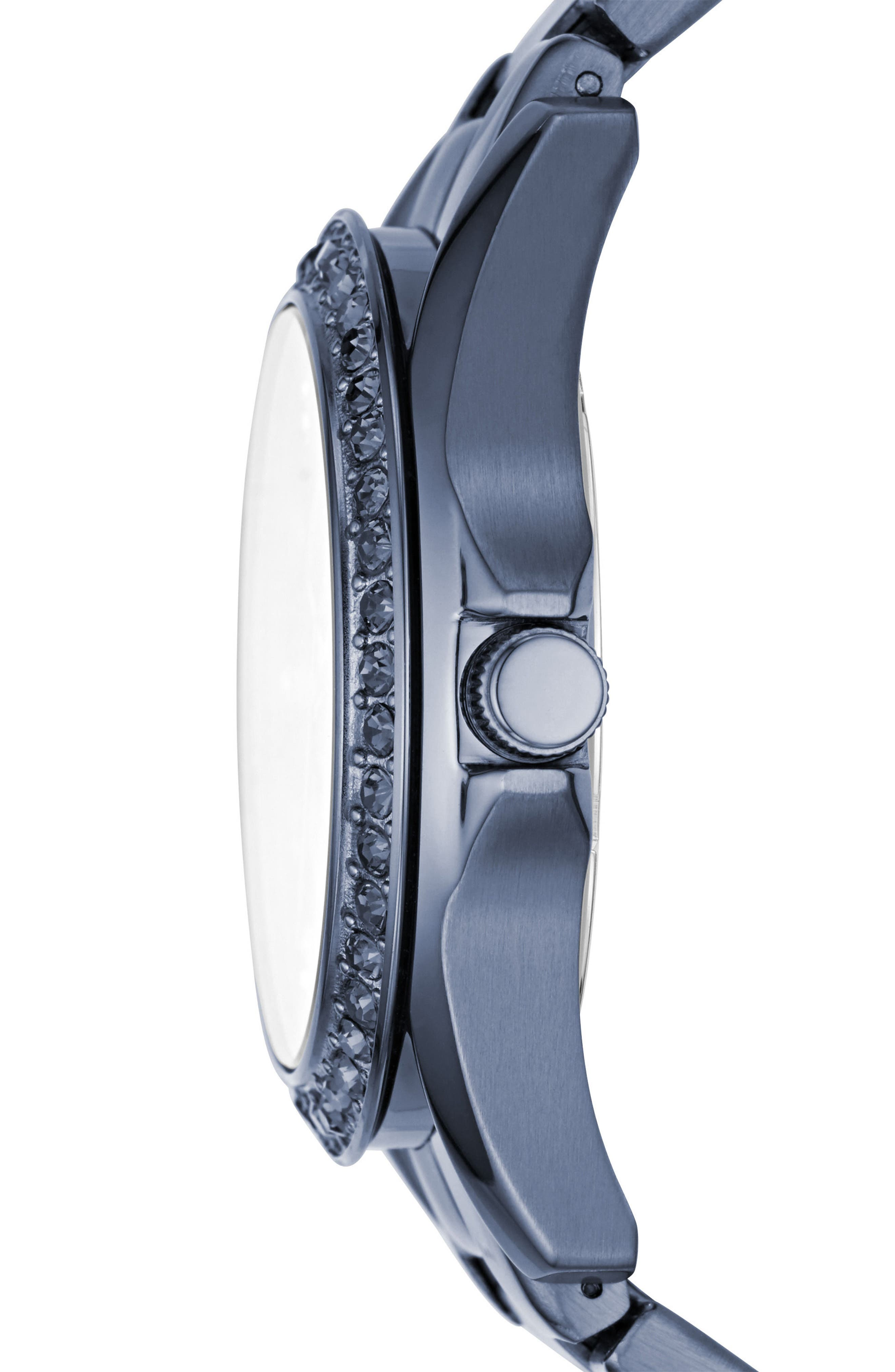 Riley Crystal Bezel Multifunction Bracelet Watch, 38mm,                             Alternate thumbnail 2, color,                             Blue