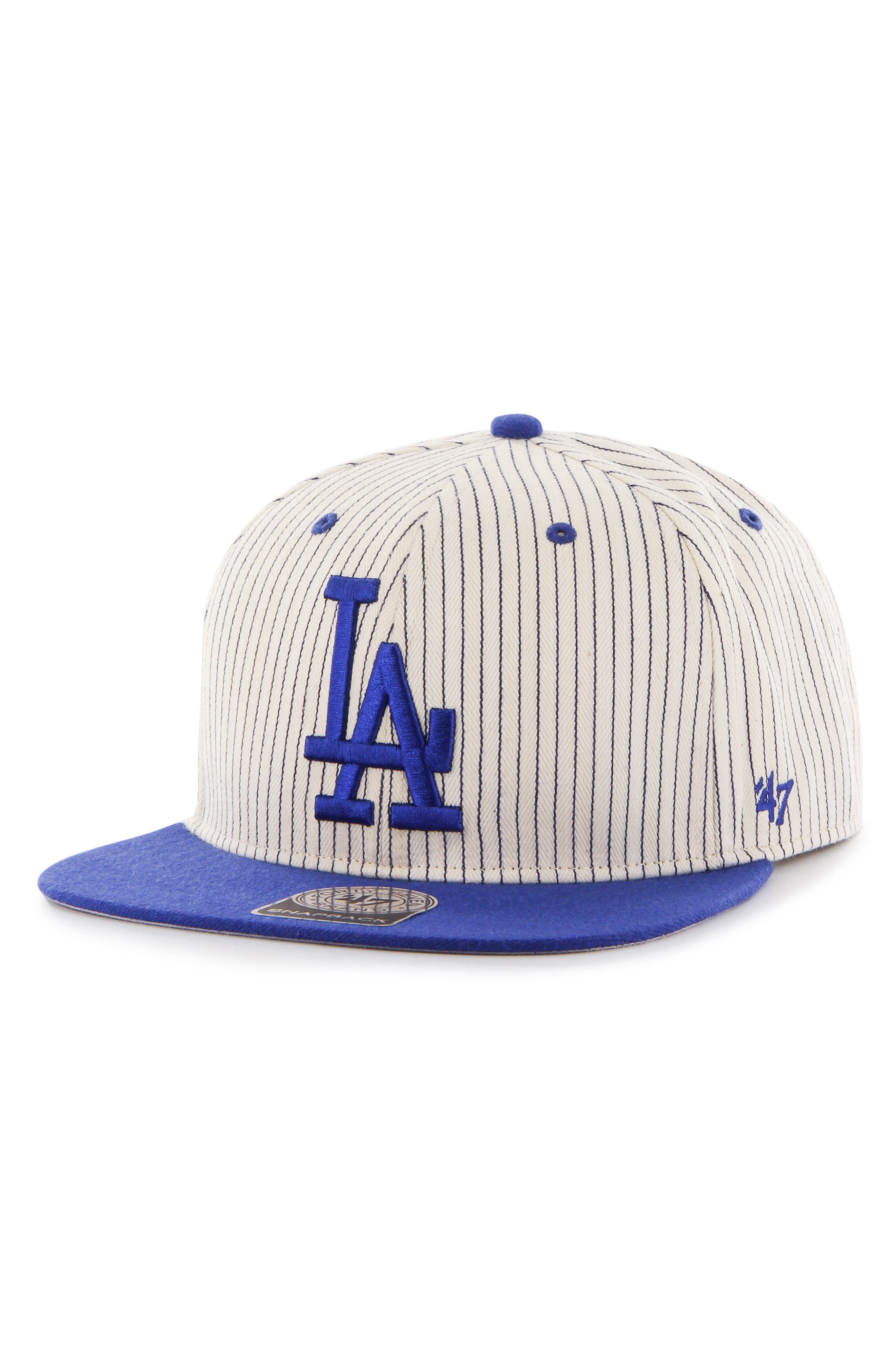 LA Dodgers Woodside Baseball Cap,                         Main,                         color, Navy