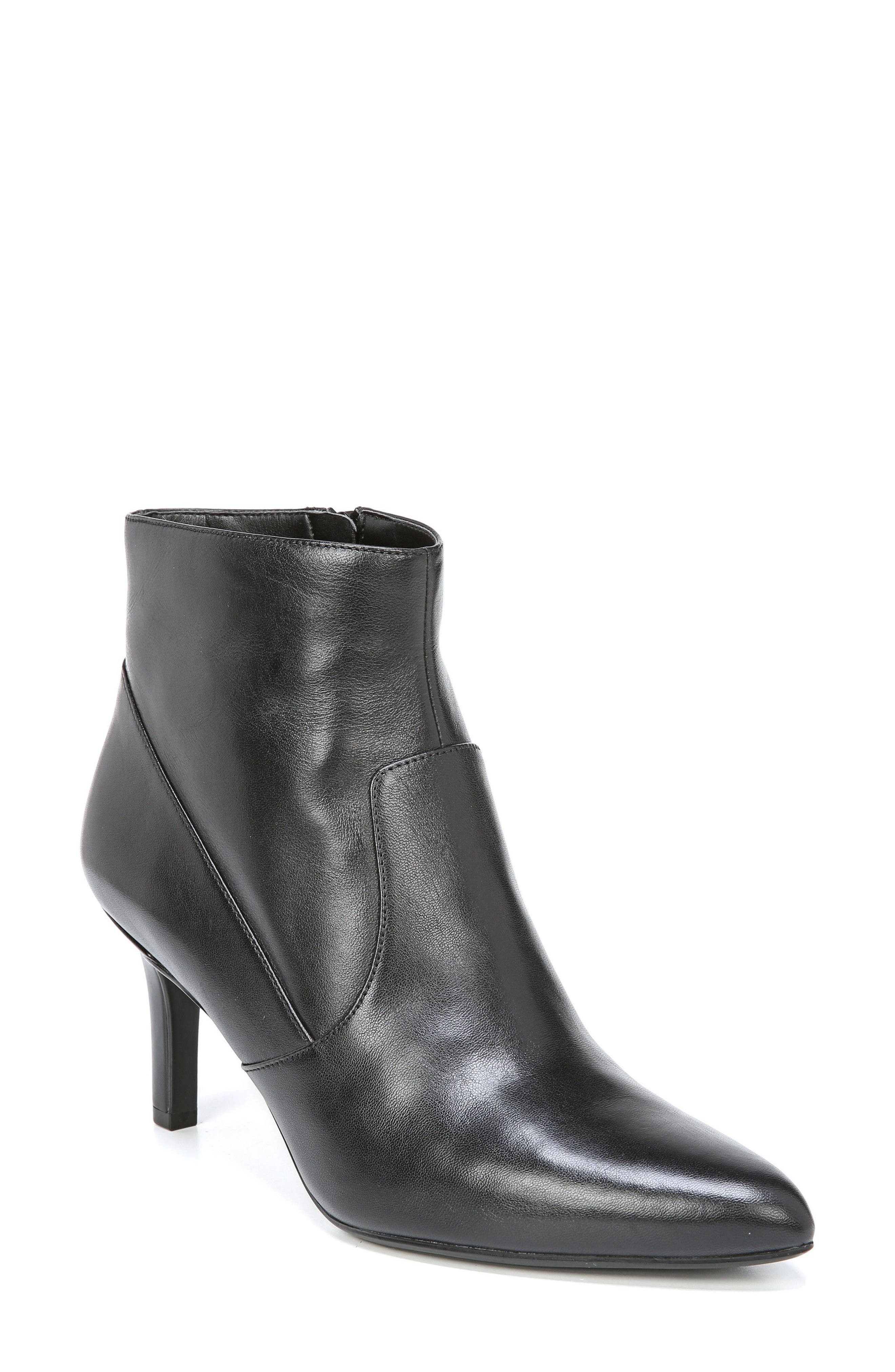 Nadine Bootie,                         Main,                         color, Black Leather