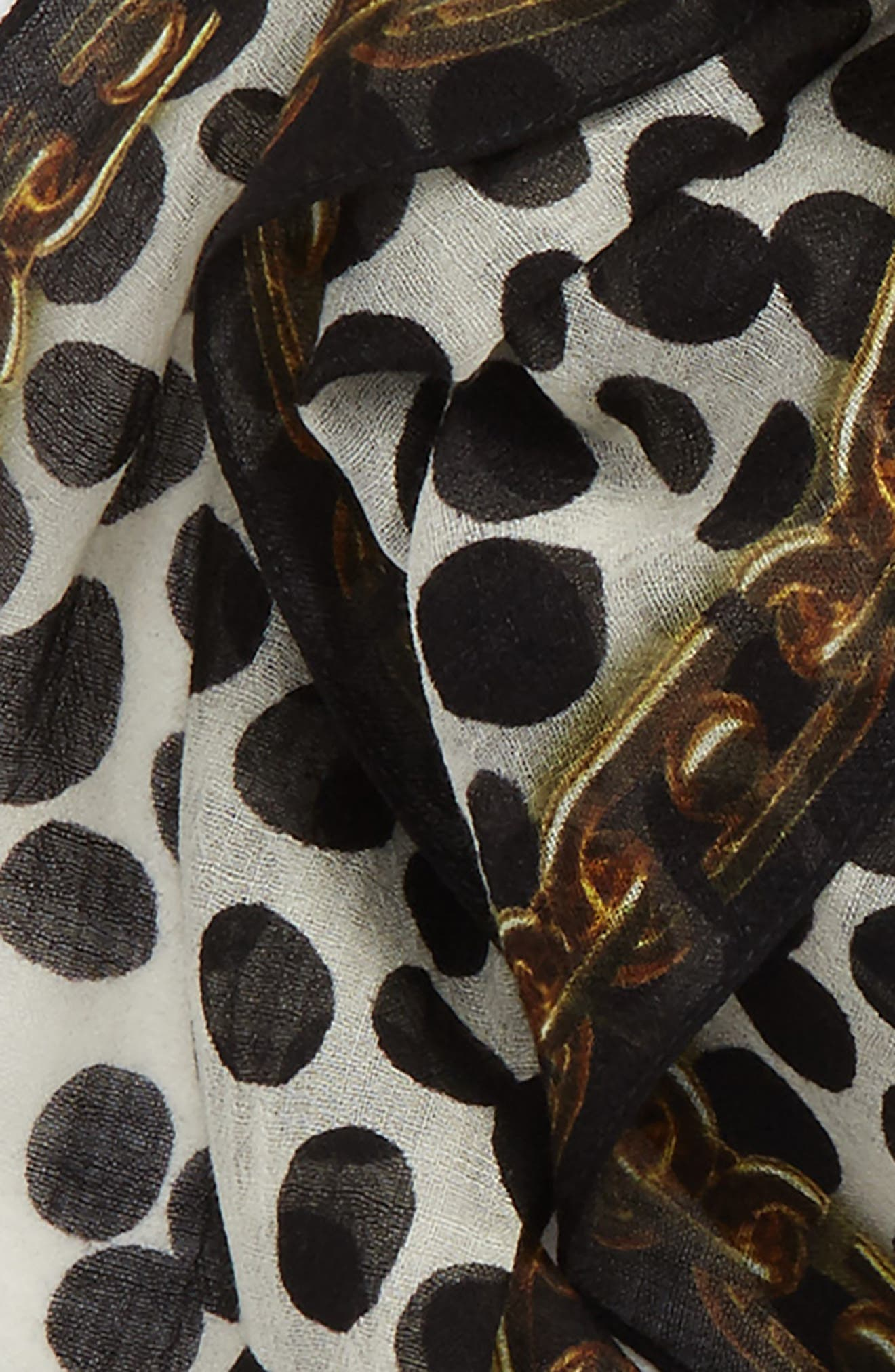 Alternate Image 3  - MARC JACOBS Animal & Chains Diamond Shaped Wool Scarf