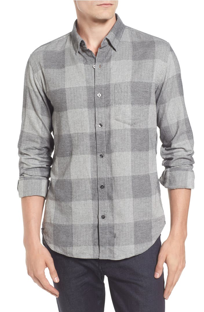 Bonobos Slim Fit Check Brushed Twill Sport Shirt Nordstrom