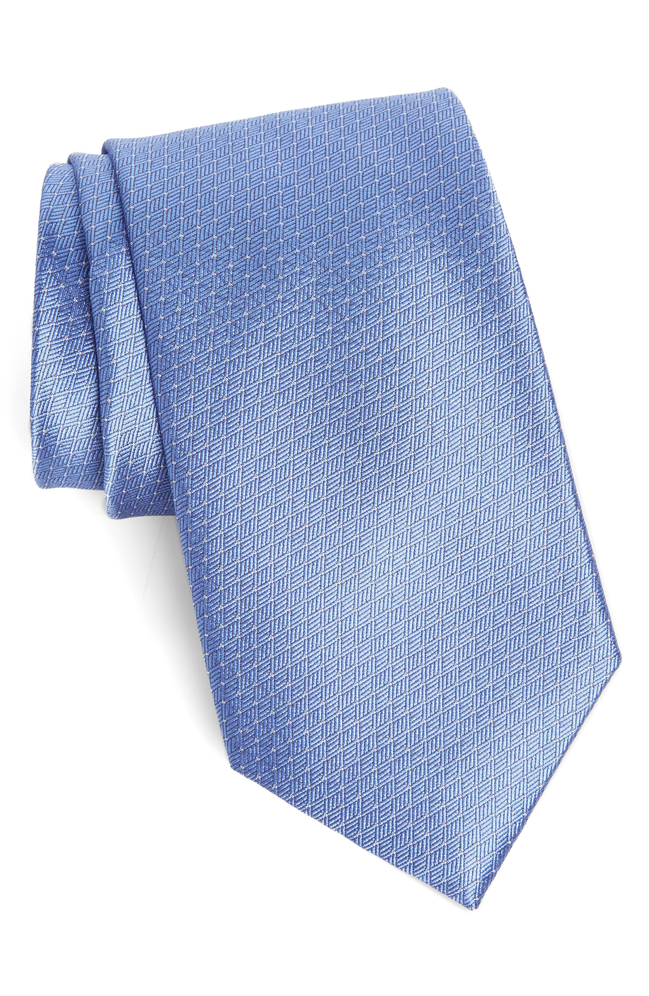 Dot Silk Tie,                             Main thumbnail 1, color,                             Blue