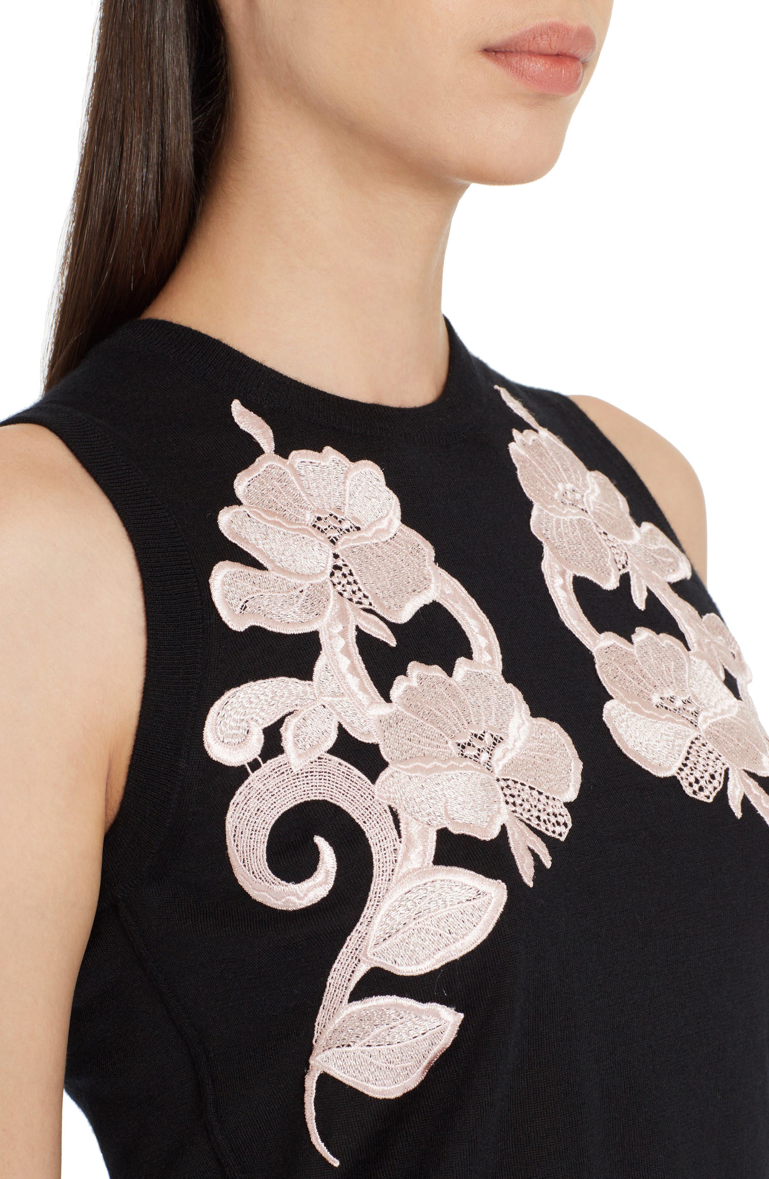 Alternate Image 4  - Dolce&Gabbana Lace Detail Cashmere Shell