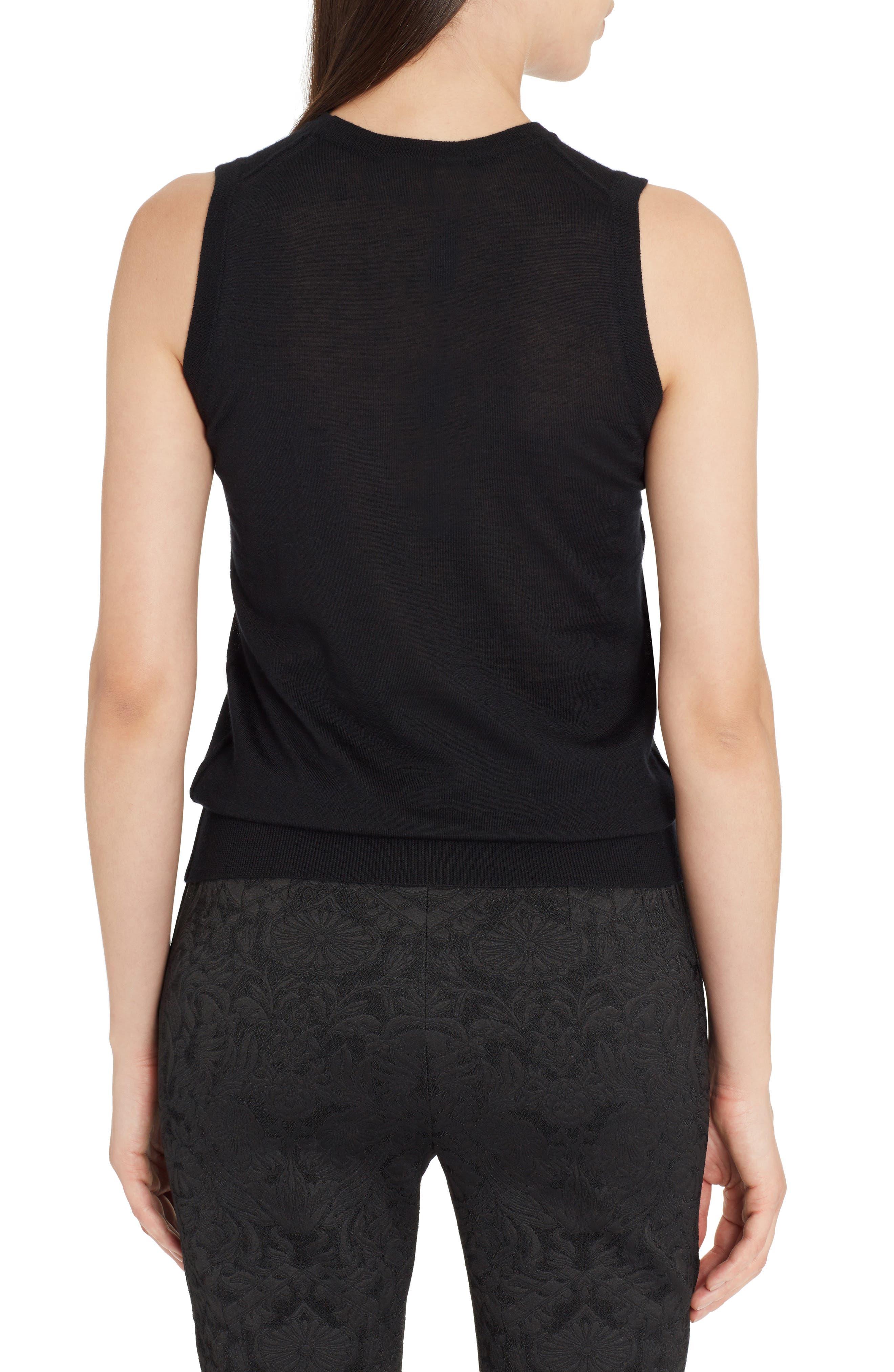 Alternate Image 2  - Dolce&Gabbana Lace Detail Cashmere Shell