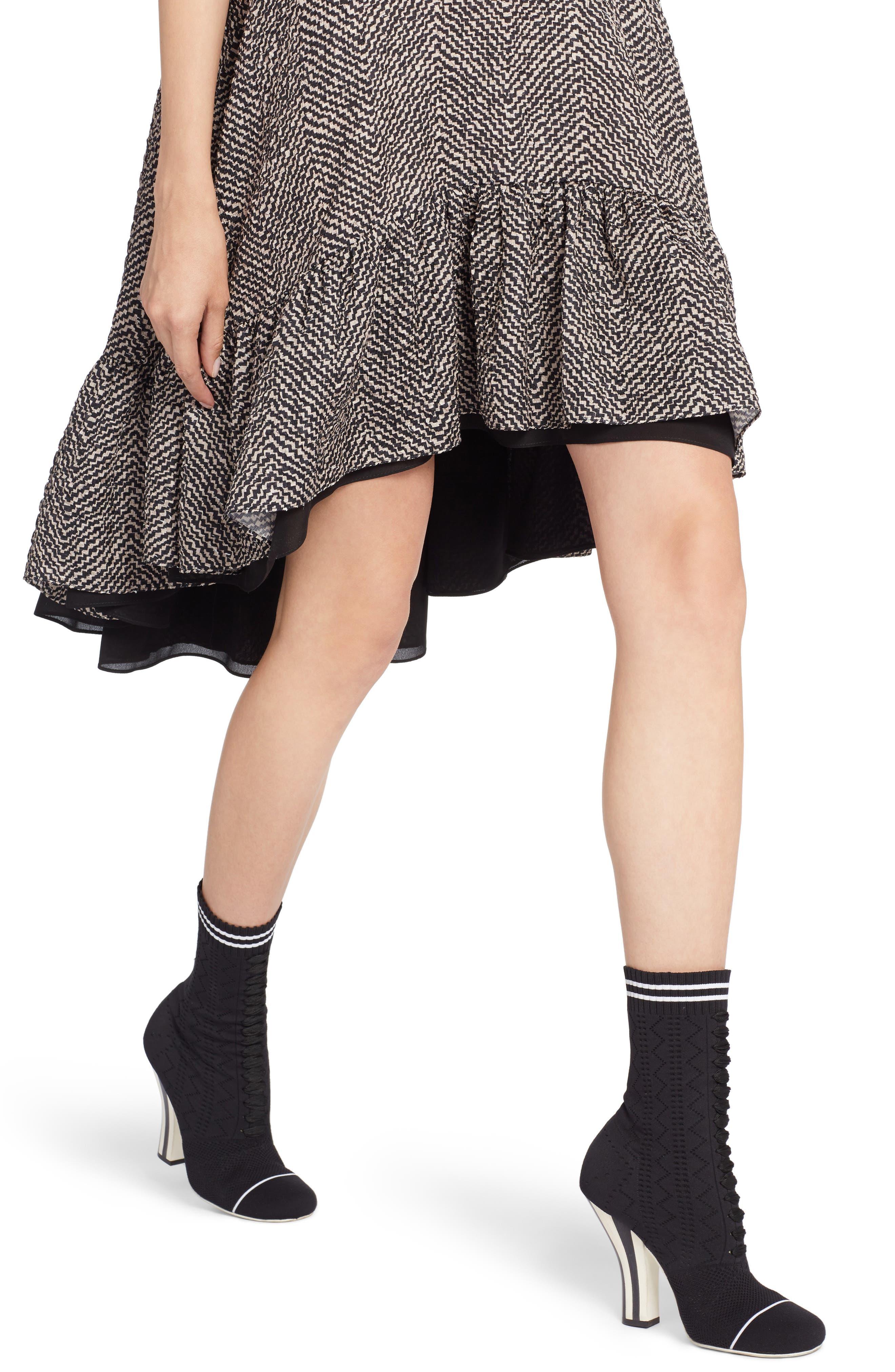 Alternate Image 4  - Fendi Pop Chevron Cloqué Swing Dress